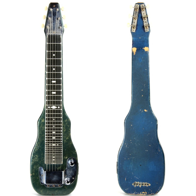 Rare BLUE c. 1954 Fender Champion Lap Steel Guitar - 1950's Champ Green Pearloid