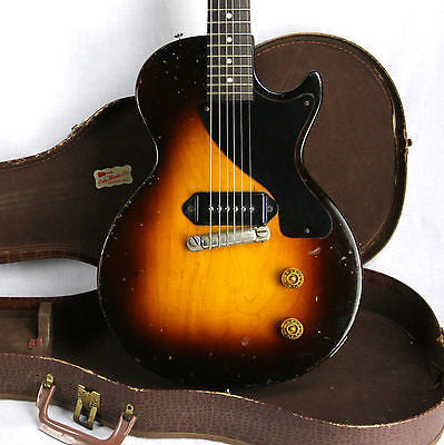EXTREMELY RARE 1954 Gibson Les Paul Jr 2-PIECE MAPLE BODY! Junior Burst Standard