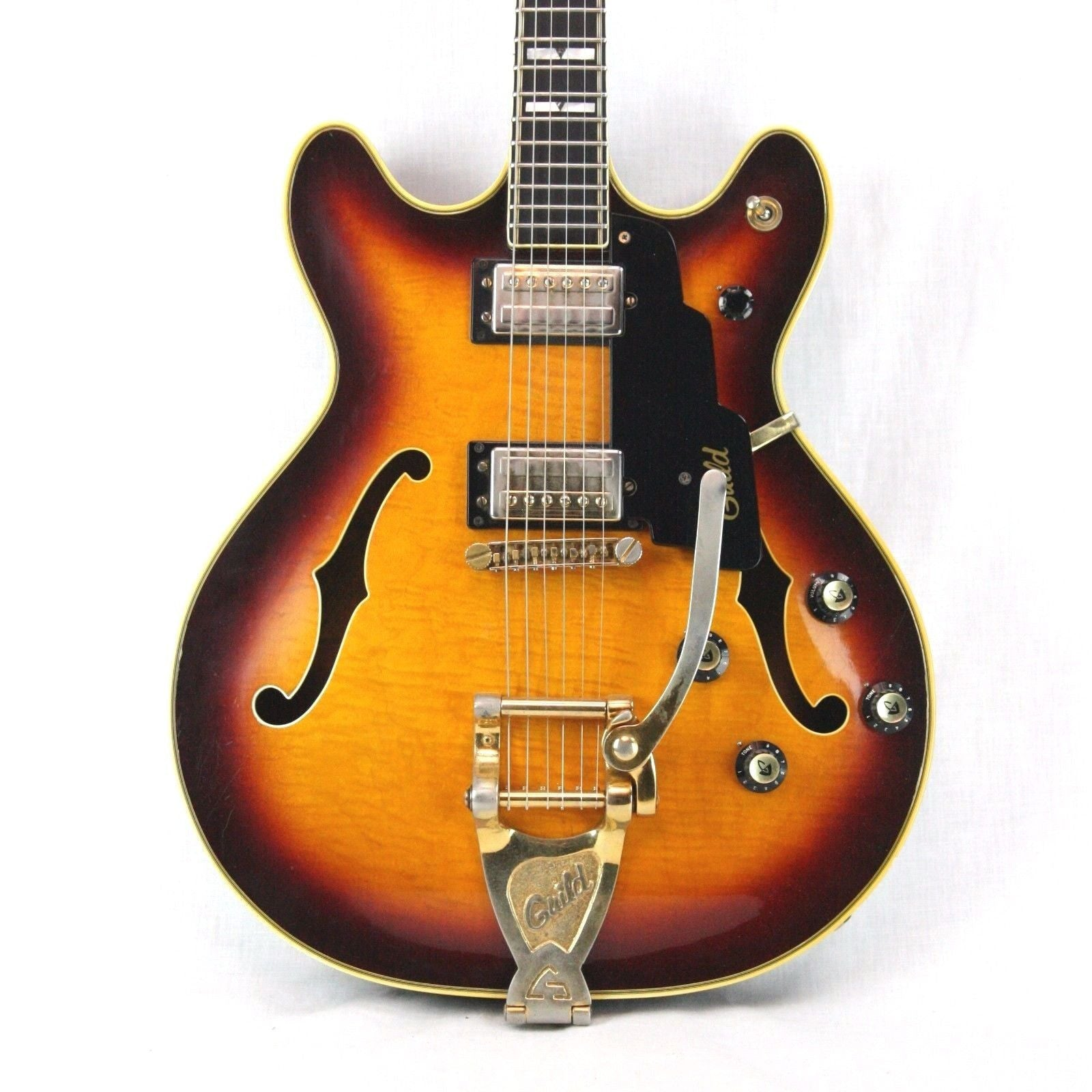 1974 Guild Starfire VI Top of the Line Model! Sunburst SF 6 Made in USA! Flamed!