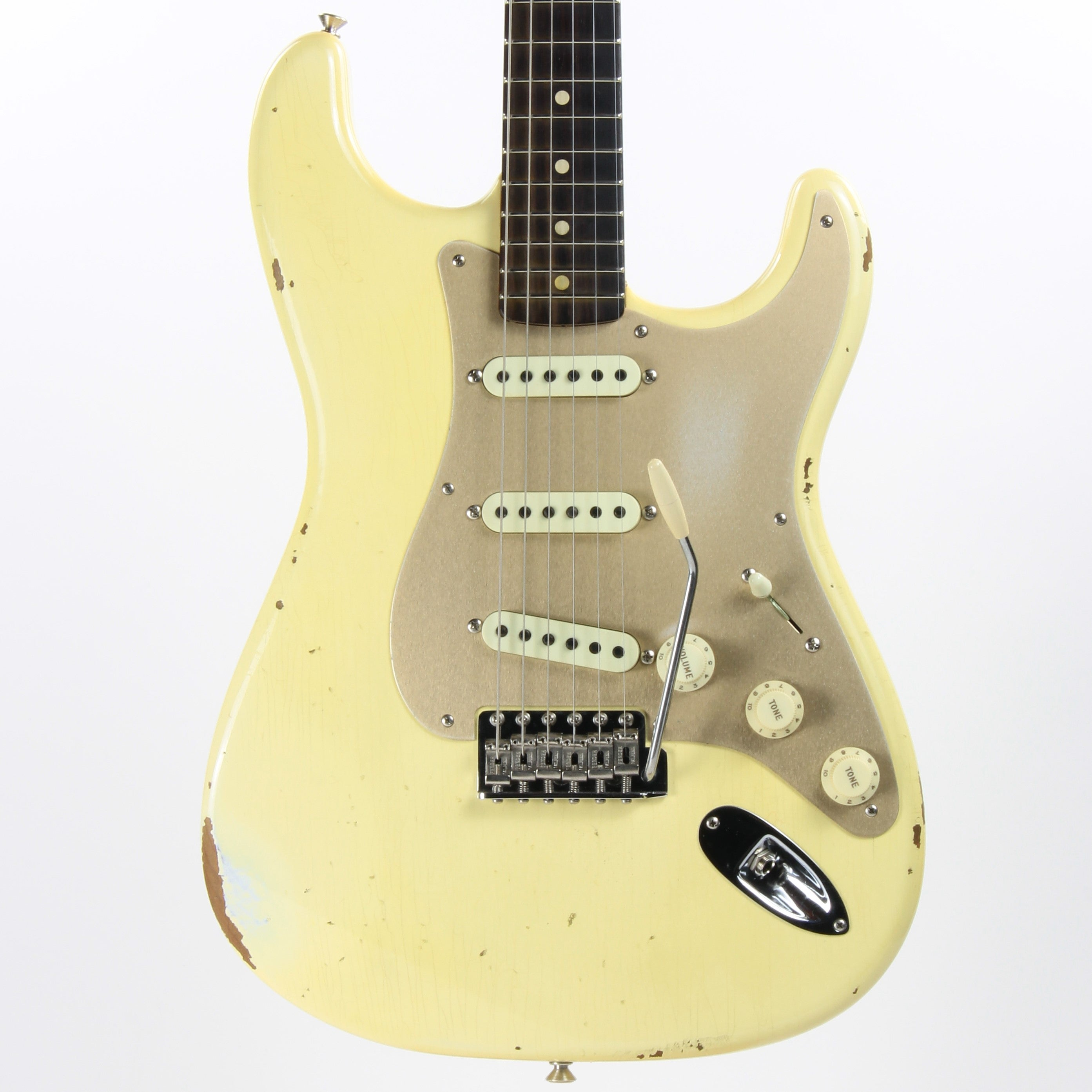 2017 NAMM Fender Custom Shop Relic 30th Anniversary 1960 Roasted Stratocaster LTD Aged Vintage White Birdseye Neck