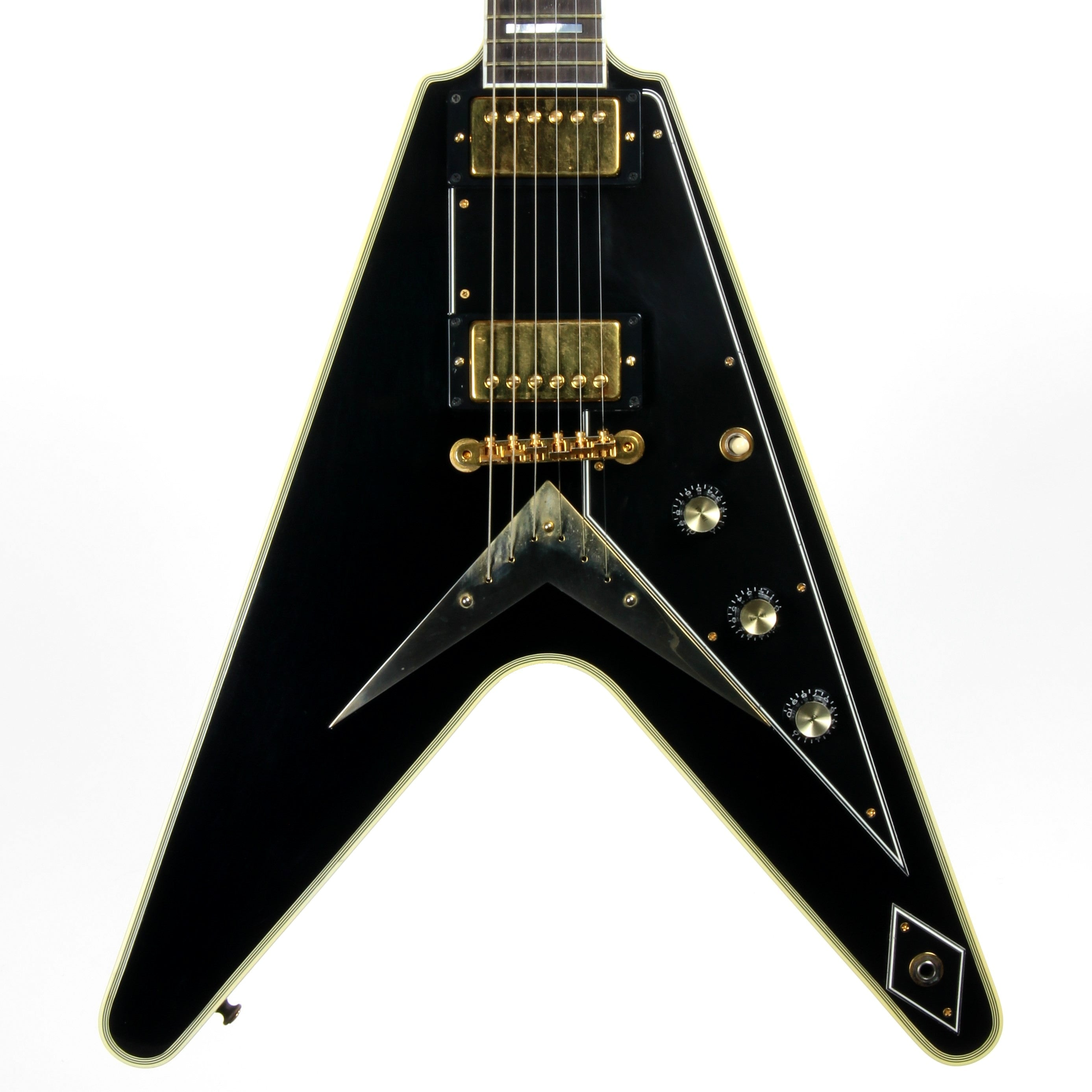 2002 Gibson Flying V Custom Shop Ebony Fingerboard Black Limited Edition Historic - Only 40 Made!
