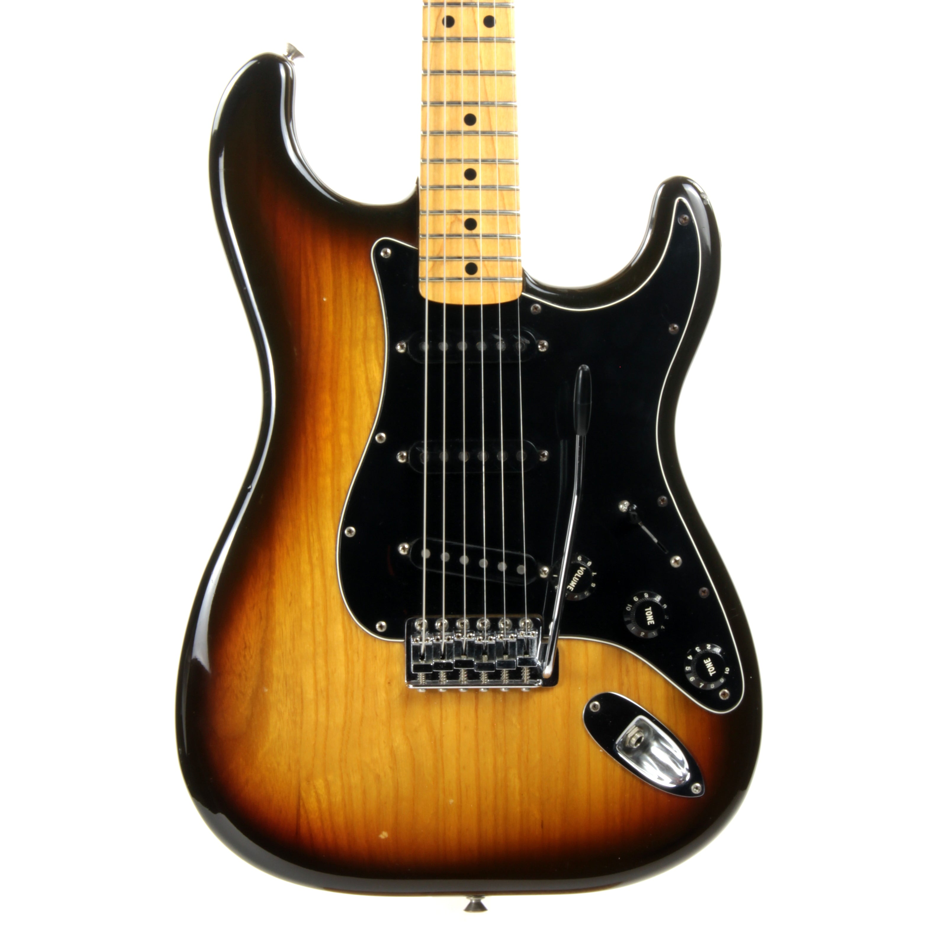 1979 Fender Stratocaster ASH 3-Tone Brown Sunburst - Maple Neck Strat Vintage USA 1970's