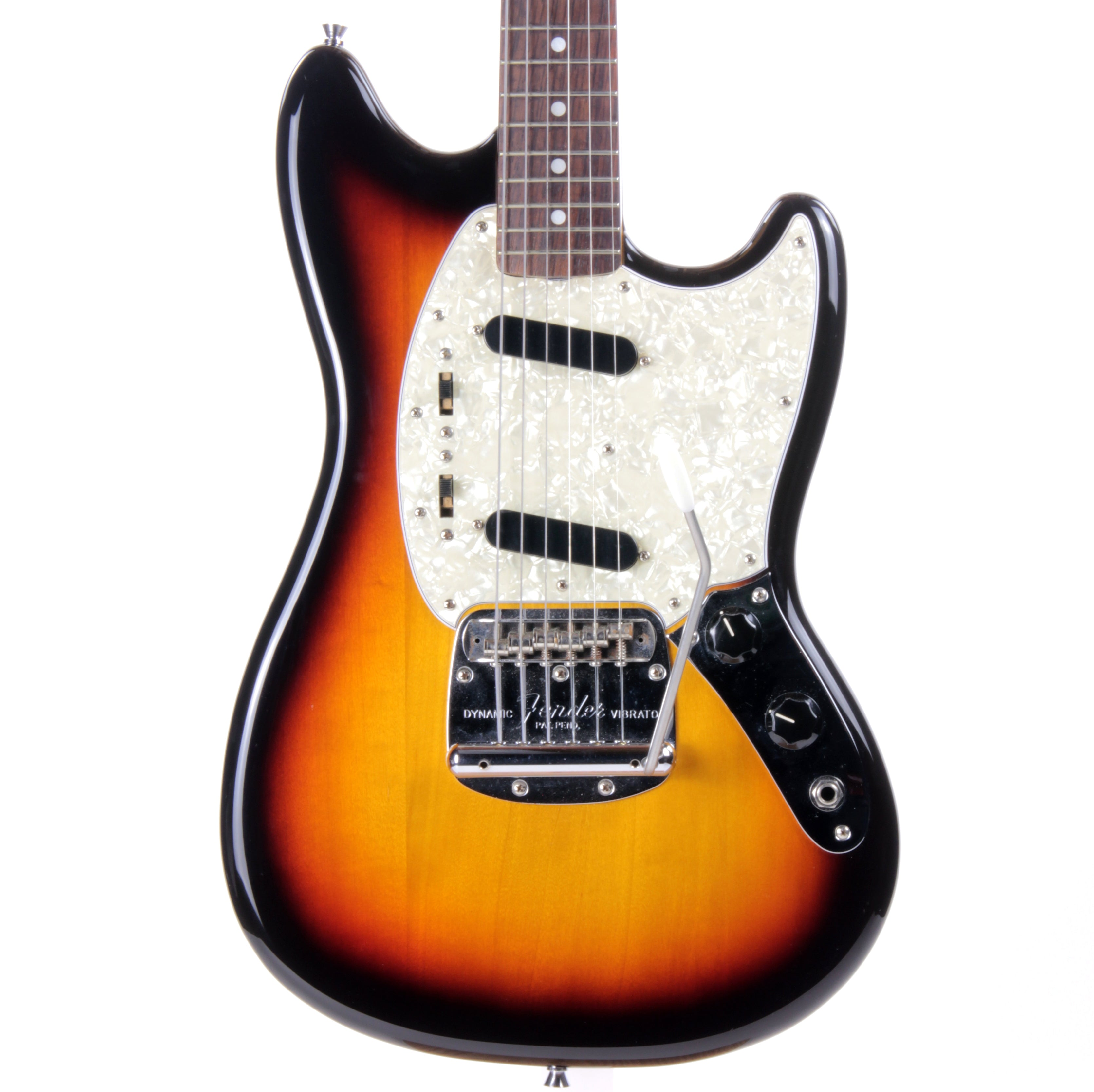 2015 Fender Japan MIJ '65 Mustang Sunburst - Chunky Neck, 1965 Reissue, MG65 Slab Board