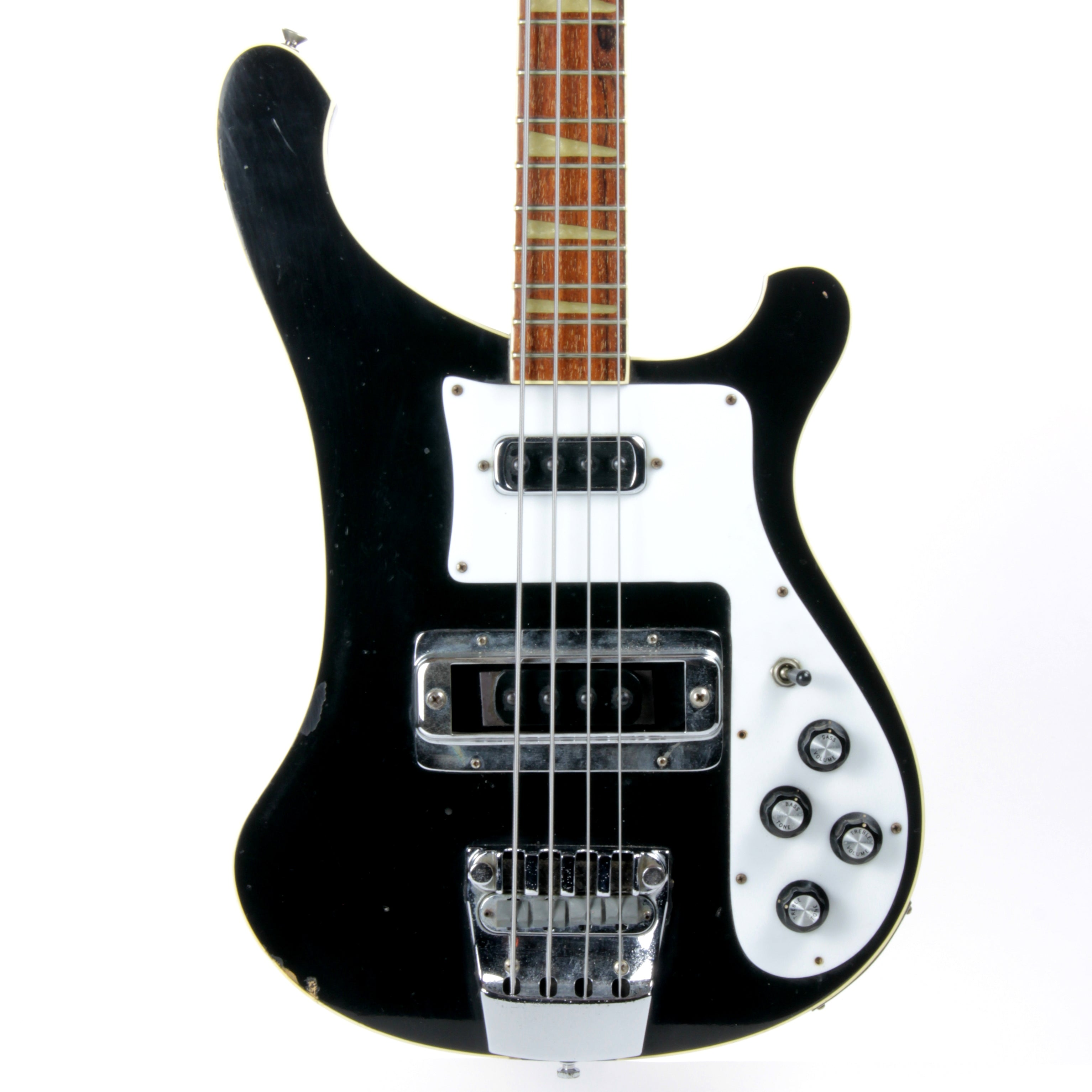 1978 Rickenbacker 4001 Jetglo Black Electric Bass Guitar! Vintage 1970's Ric