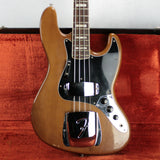 1974 Fender Jazz Bass Mocha 4 Bolt Neck w/ OHSC tags! Rosewood Board 1970's P vintage