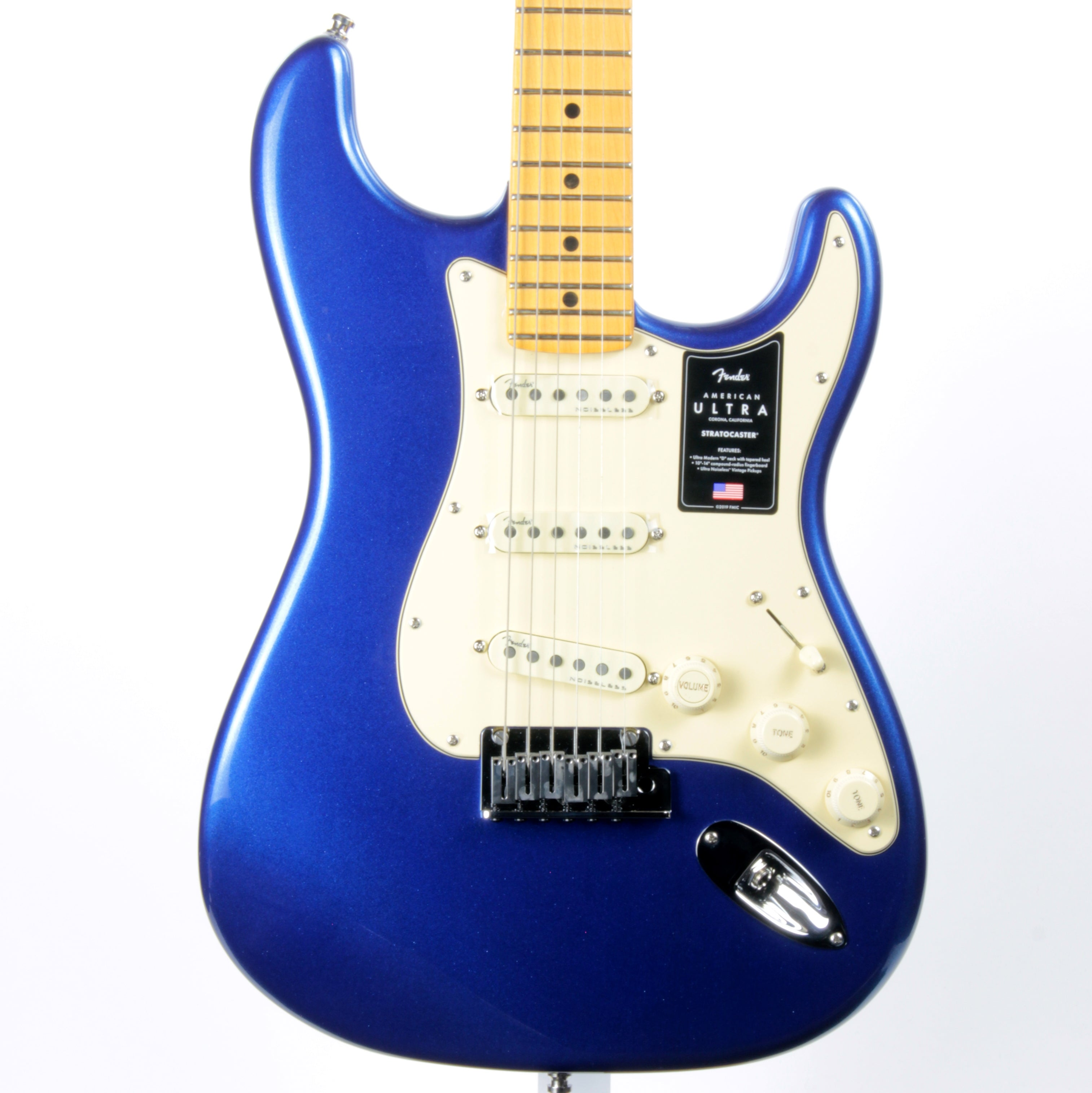 2020 Fender American ULTRA Stratocaster Cobra Blue - Maple Neck Strat USA MINT!