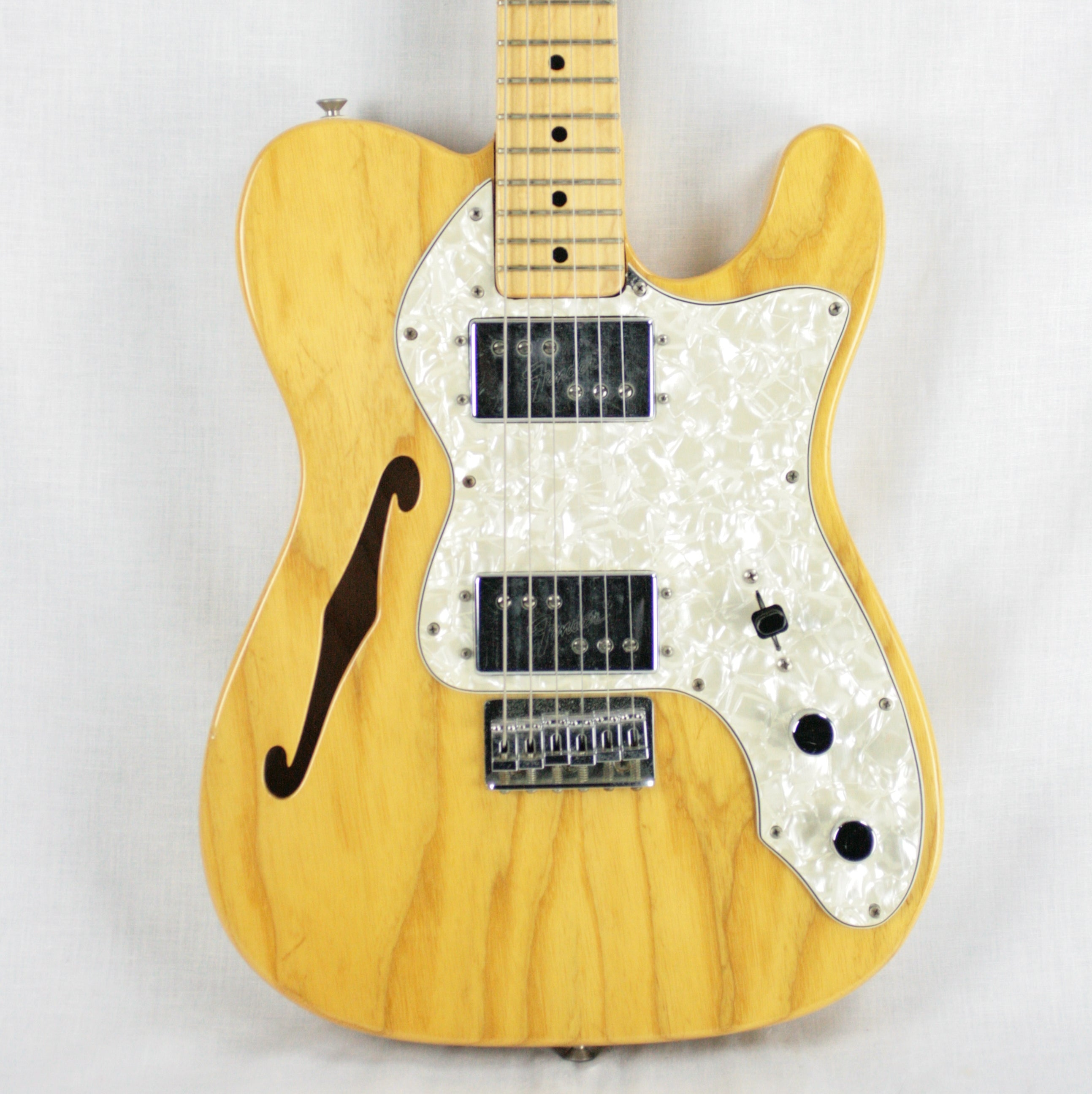 CLEAN 1972 Fender Telecaster Thinline! Vintage 1970's Tele! Single-String Tree! 100% Original!