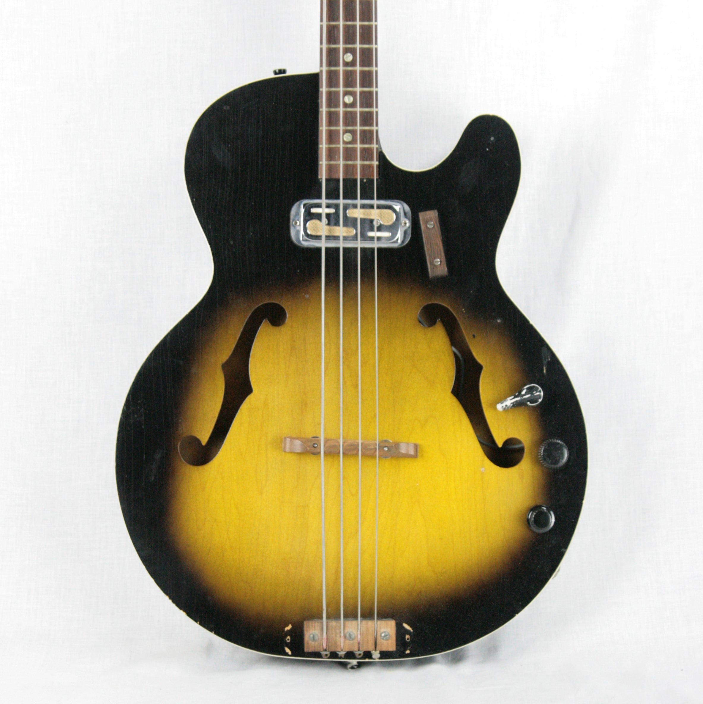 1960's Harmony H-22 Bass Guitar! Electric Hollowbody! Dearmond Pickup! Vintage!