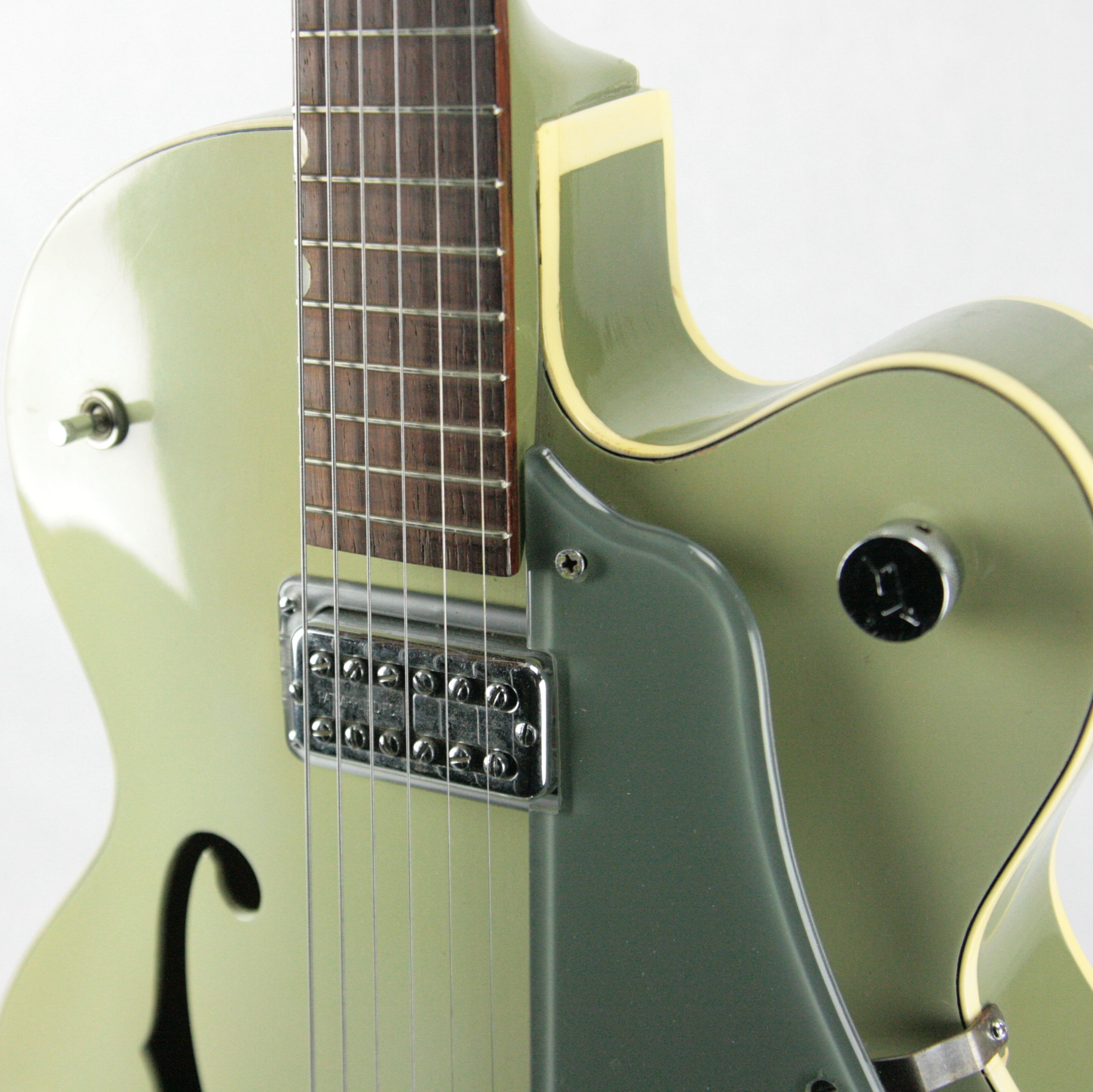 c. 1959 Gretsch 6125 Anniversary Two-Tone SMOKE GREEN w/ PAF Filtertron! Trestle-Bracing!