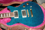 1998 Gibson Les Paul Standard Plus DC Teal Blue! Double Cut LP! Flametop