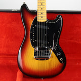 "1976 Fender MUSTANG w/ Original Case, Tags - Sunburst Maple Neck Vintage 24"" Scale!"