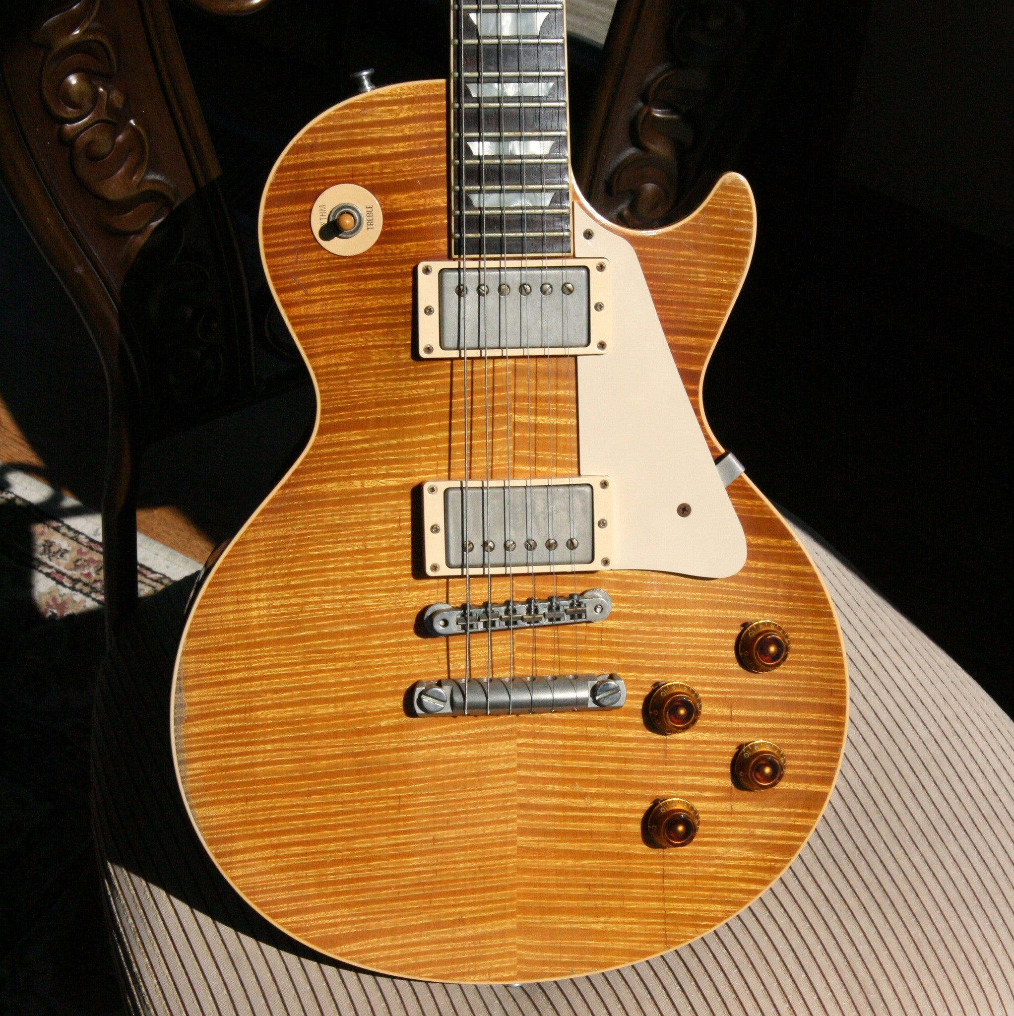 1959 Gibson HISTORIC MAKEOVERS Les Paul Reissue! BRAZILIAN ROSEWOOD Board! 2000 LP HM R9 59 Burst