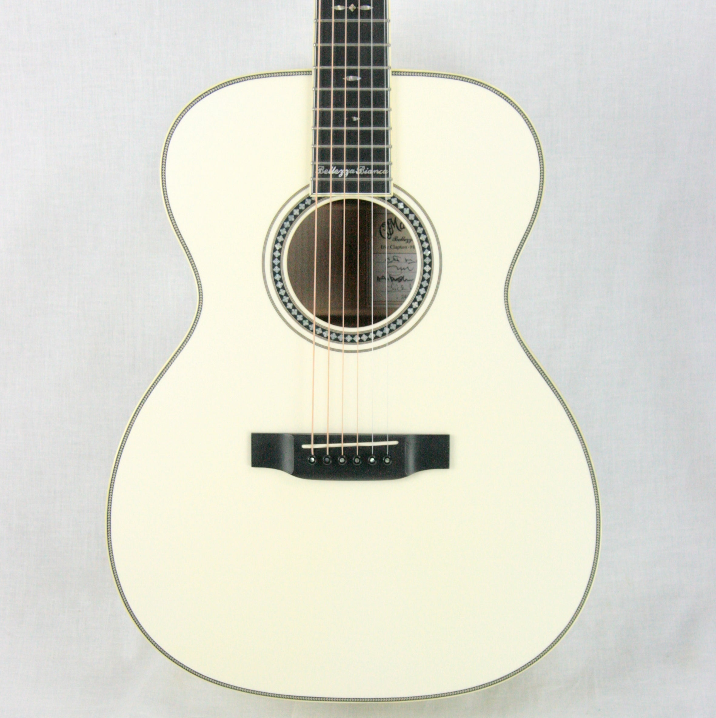 2006 Martin Bellezza Bianca SIGNED Eric Clapton 000-ECHF WHITE Acoustic Guitar! 28 42