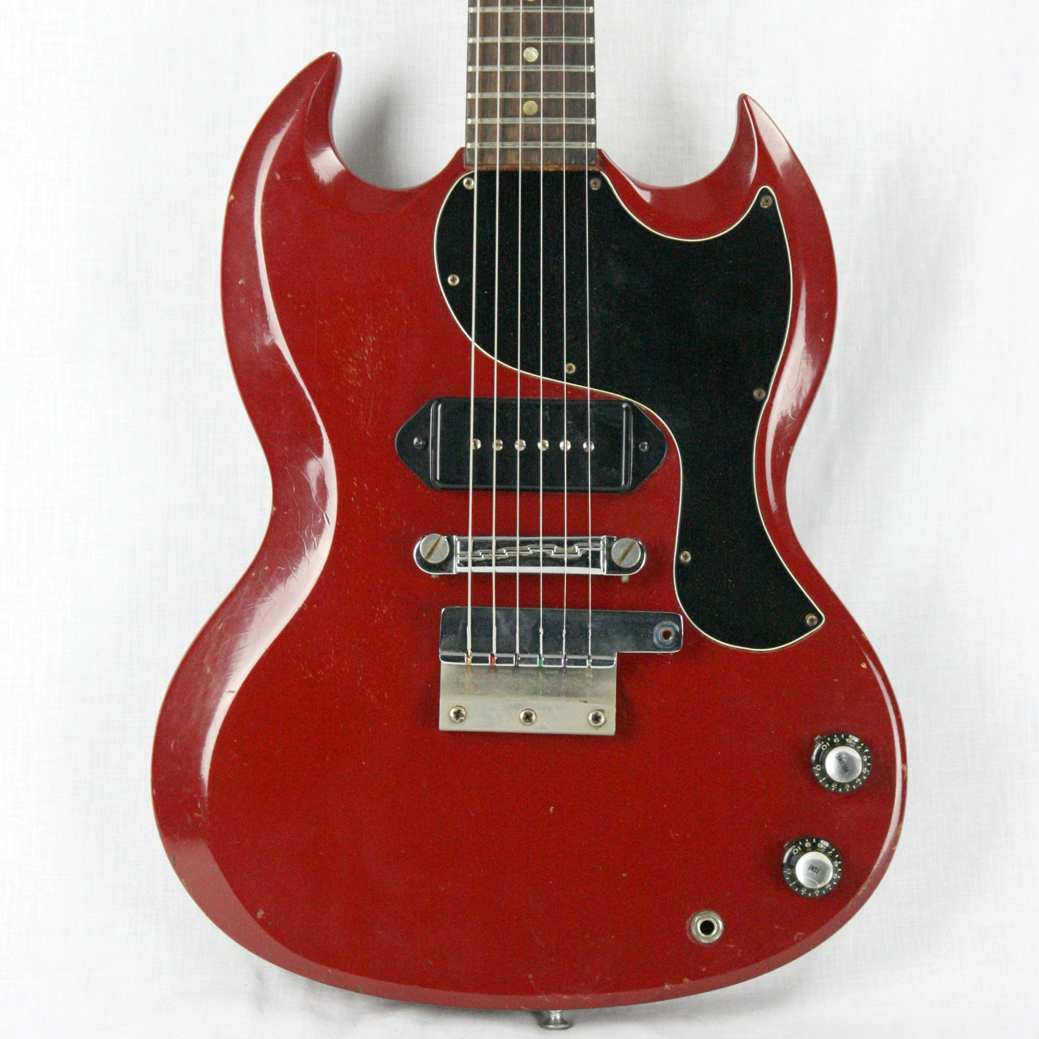 1965 Gibson SG Jr. in CARDINAL RED! Rare Custom Color Junior! FAT NECK 1-11/16 Nut! les paul firebird