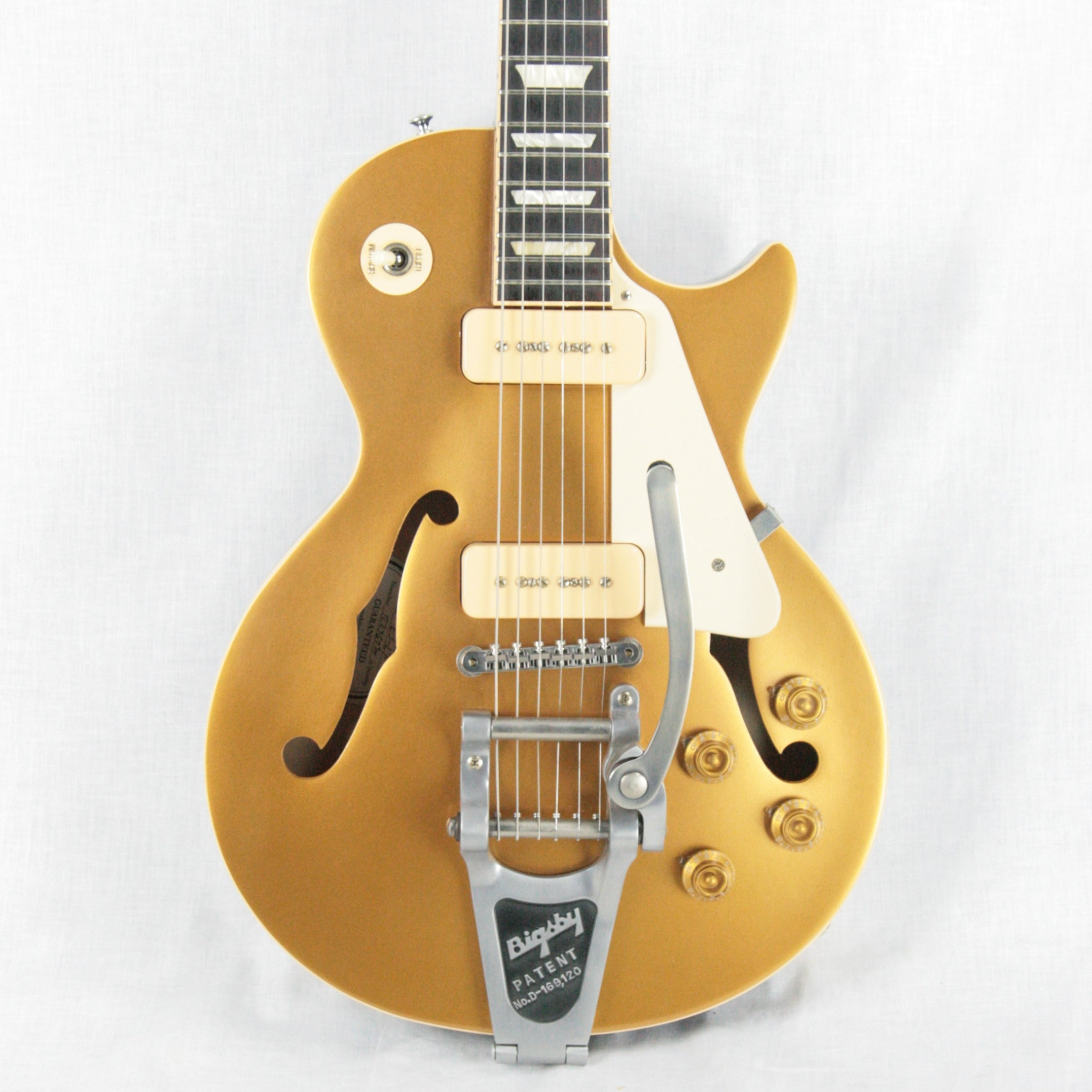 2016 Gibson ES Les Paul Goldtop w/ Bigsby & P90 Pickups! 335 LP Gold Top!