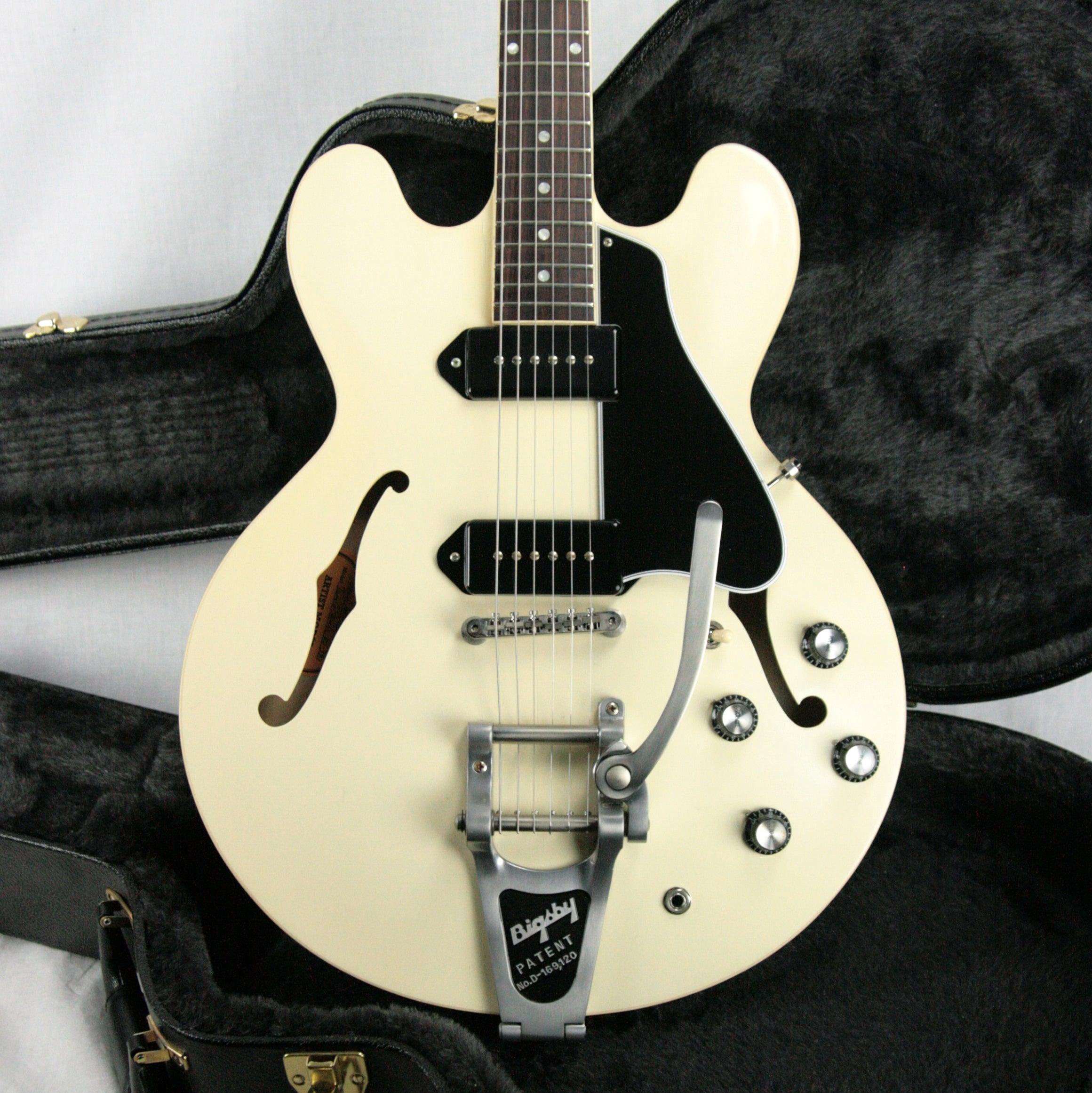 1959 Gibson Memphis ES-330 Tamio Okuda Classic White! P90 Bigsby Limited Edition