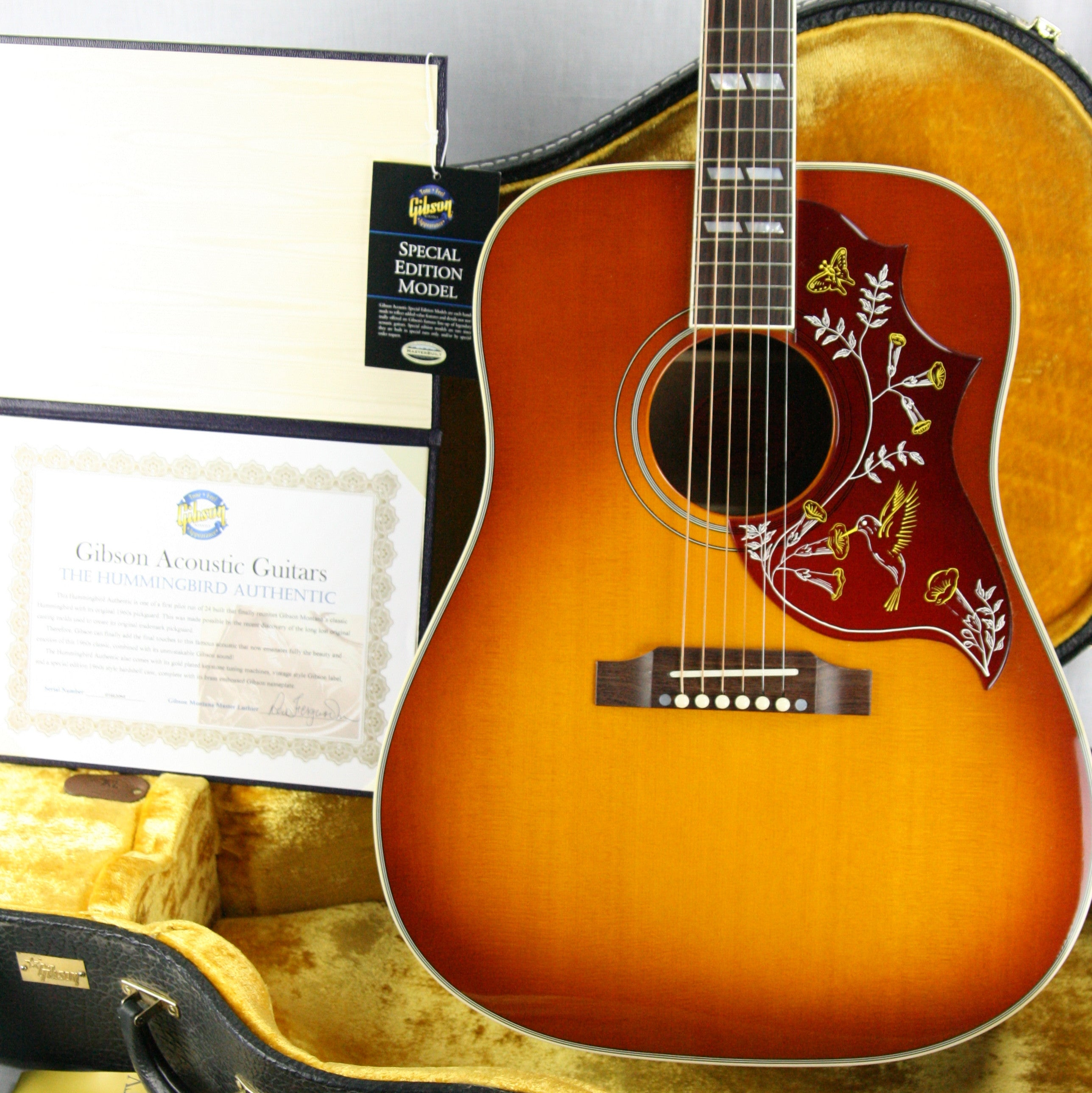 2003 Gibson 60's Authentic HUMMINGBIRD Pilot Run 1 of 24! REN FERGUSON Custom Shop Acoustic! True Vintage