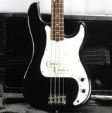 CLEAN 1979-1982 Fender Precision Bass BLACK w/ OHSC! Rosewood Board 1970's P vintage 1981