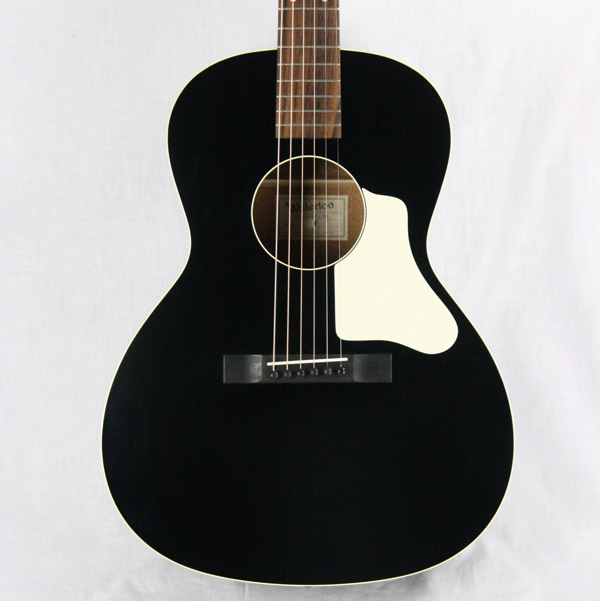 Waterloo WL-14 LTR by Collings! Ladder-Braced L w/ Truss Rod! Black Satin Finish