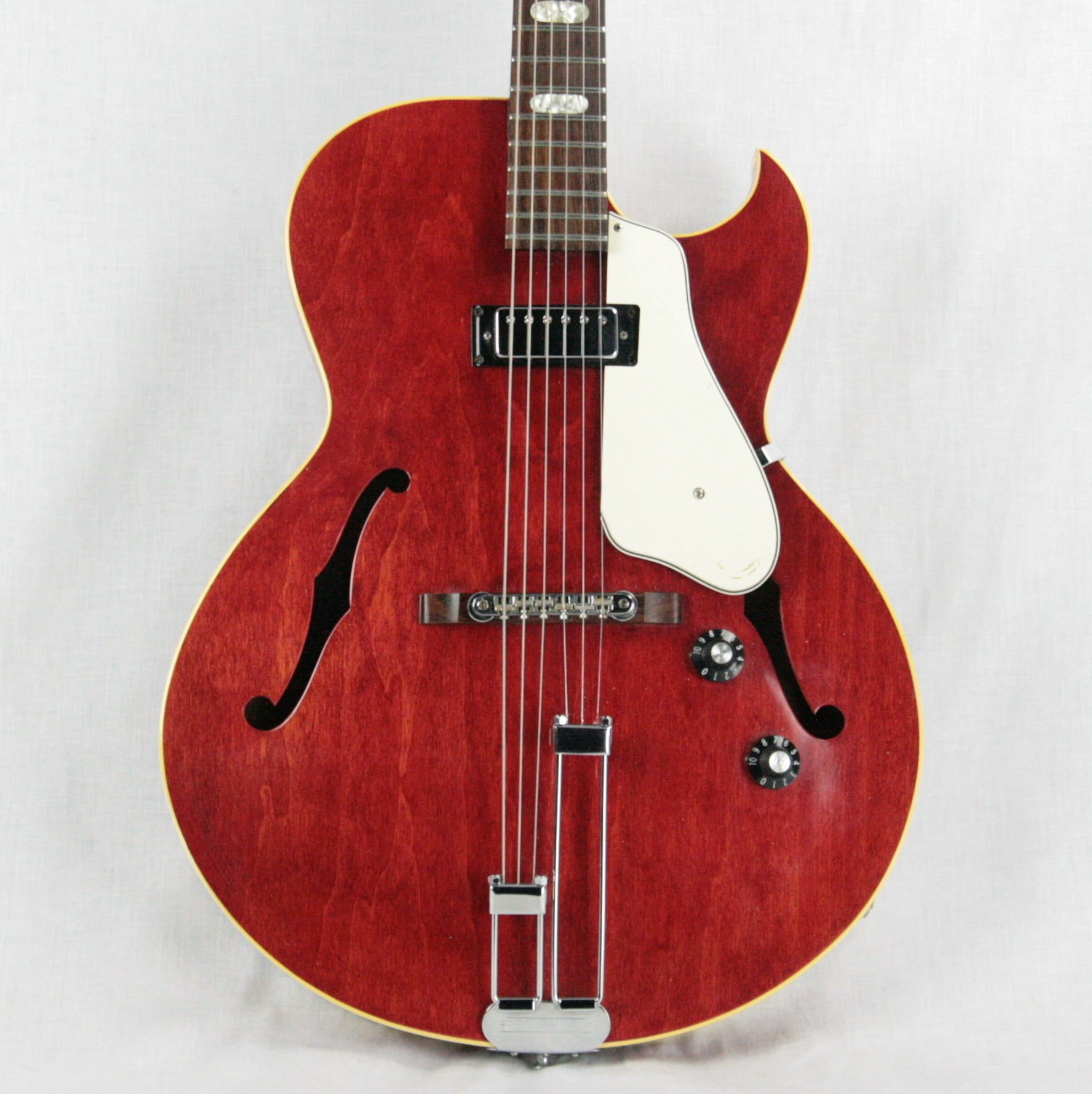 1968 Epiphone Sorrento CHERRY w/ White Guard! Mini-Humbucker Gibson-Made! E452TC es-125