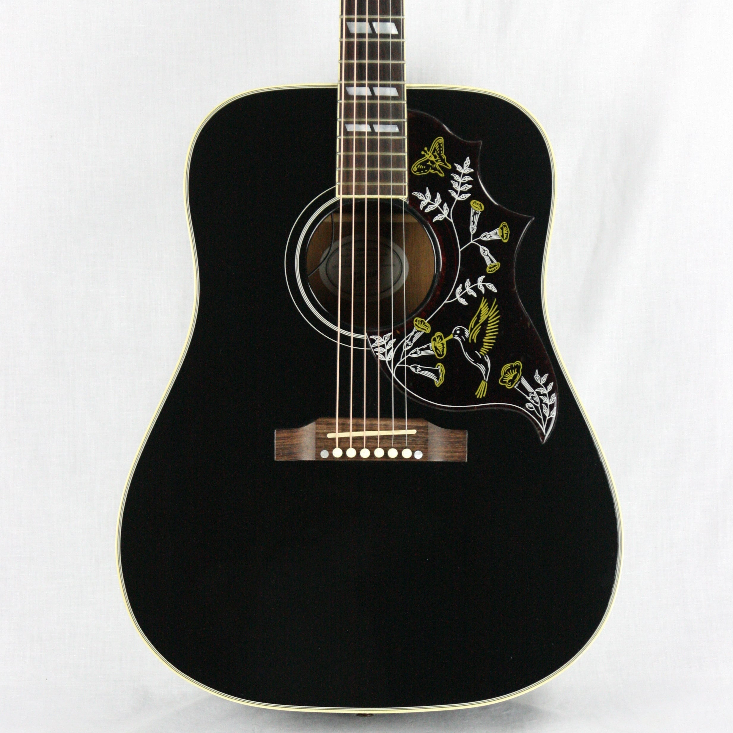 2012 Gibson Hummingbird in Ebony Black Finish! Dreadnought Acoustic Guitar j45 j200
