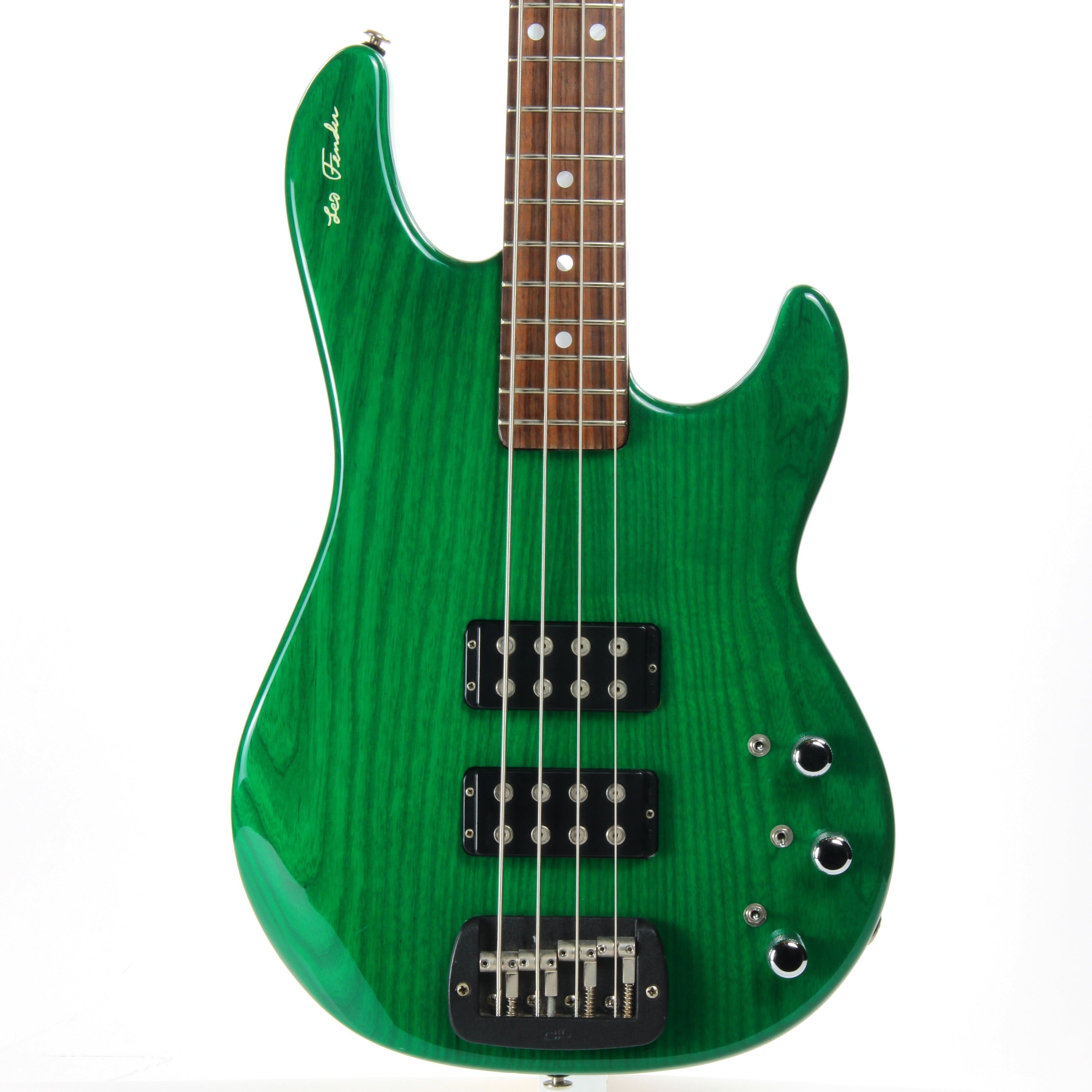 1991 G&L USA L-2000 Signature Edition Leo Fender Bass - Clear Forest Green l2000