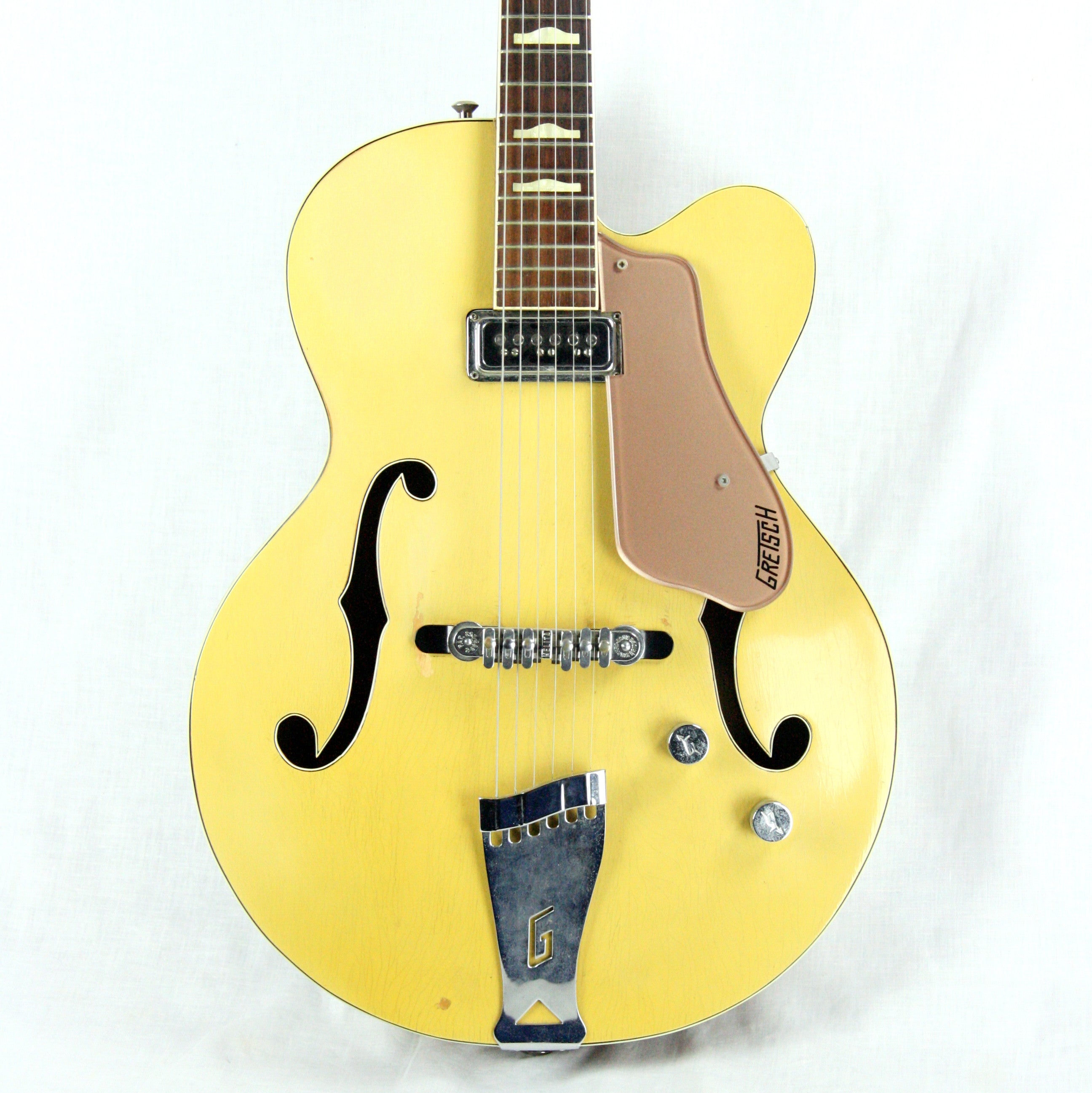 c. 1957 Gretsch Streamliner Bamboo Yellow Copper Mist! Transitional Electromatic 6189 Model! Anniversary 6120