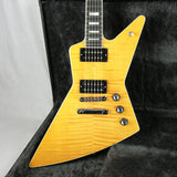 2005 Gibson Explorer Pro Flametop EBONY Board Les Paul Custom Inlays! X-Plorer