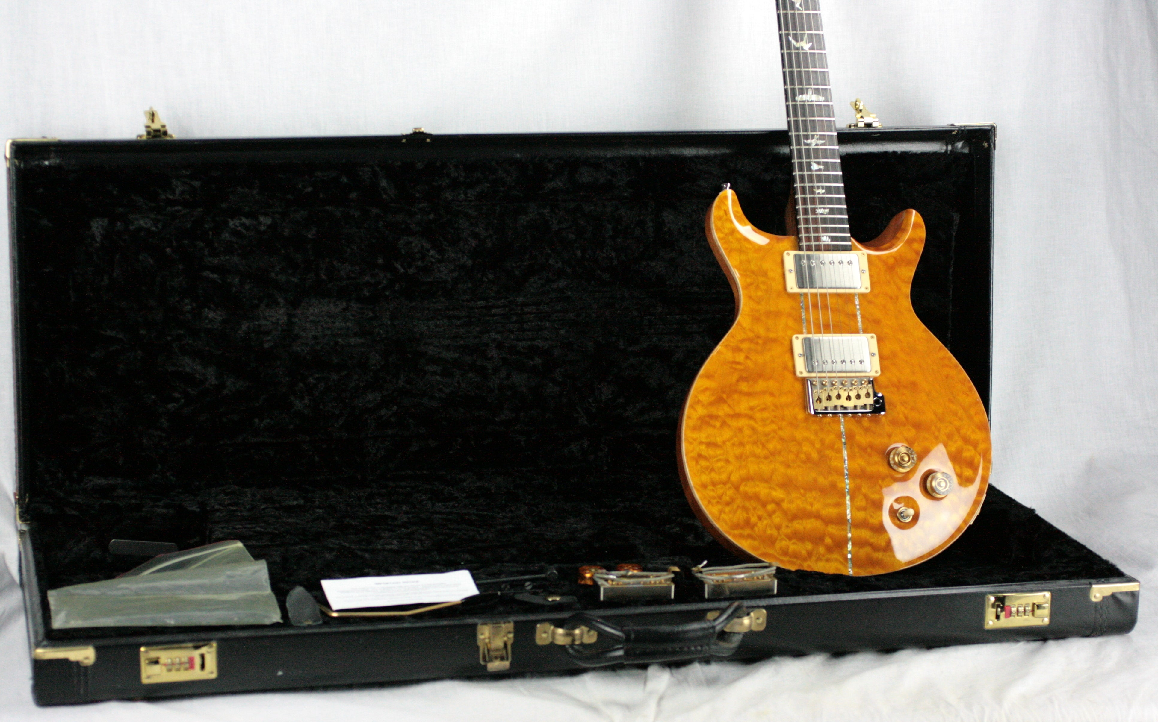 2004 PRS Solid BRAZILIAN ROSEWOOD Neck Santana Limited Edition 1/200! Paul Reed Smith Yellow Quilt