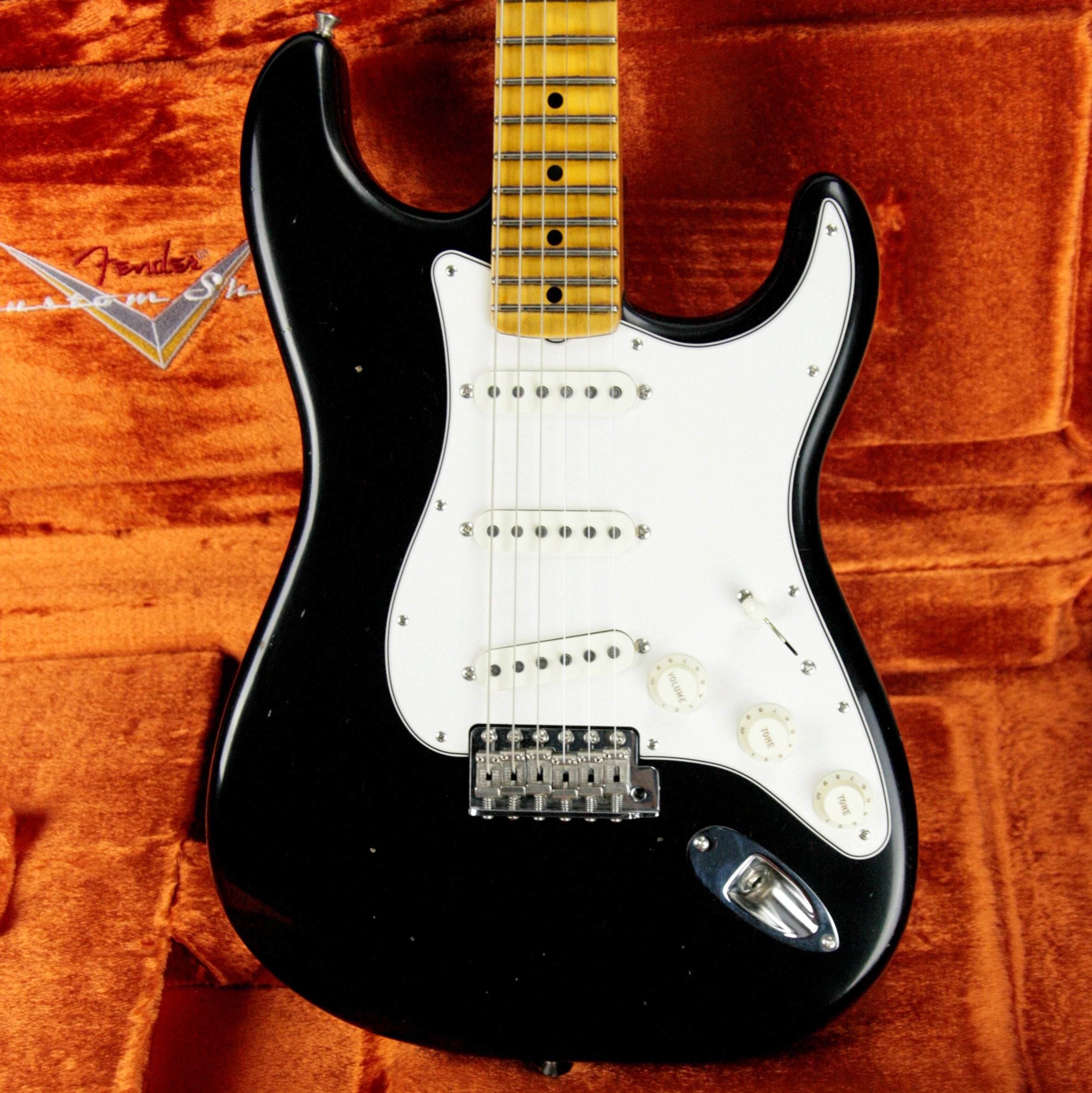 2018 Fender Custom Shop Jimi Hendrix Voodoo Child Stratocaster Journeyman Relic Black Strat Maple Cap Neck