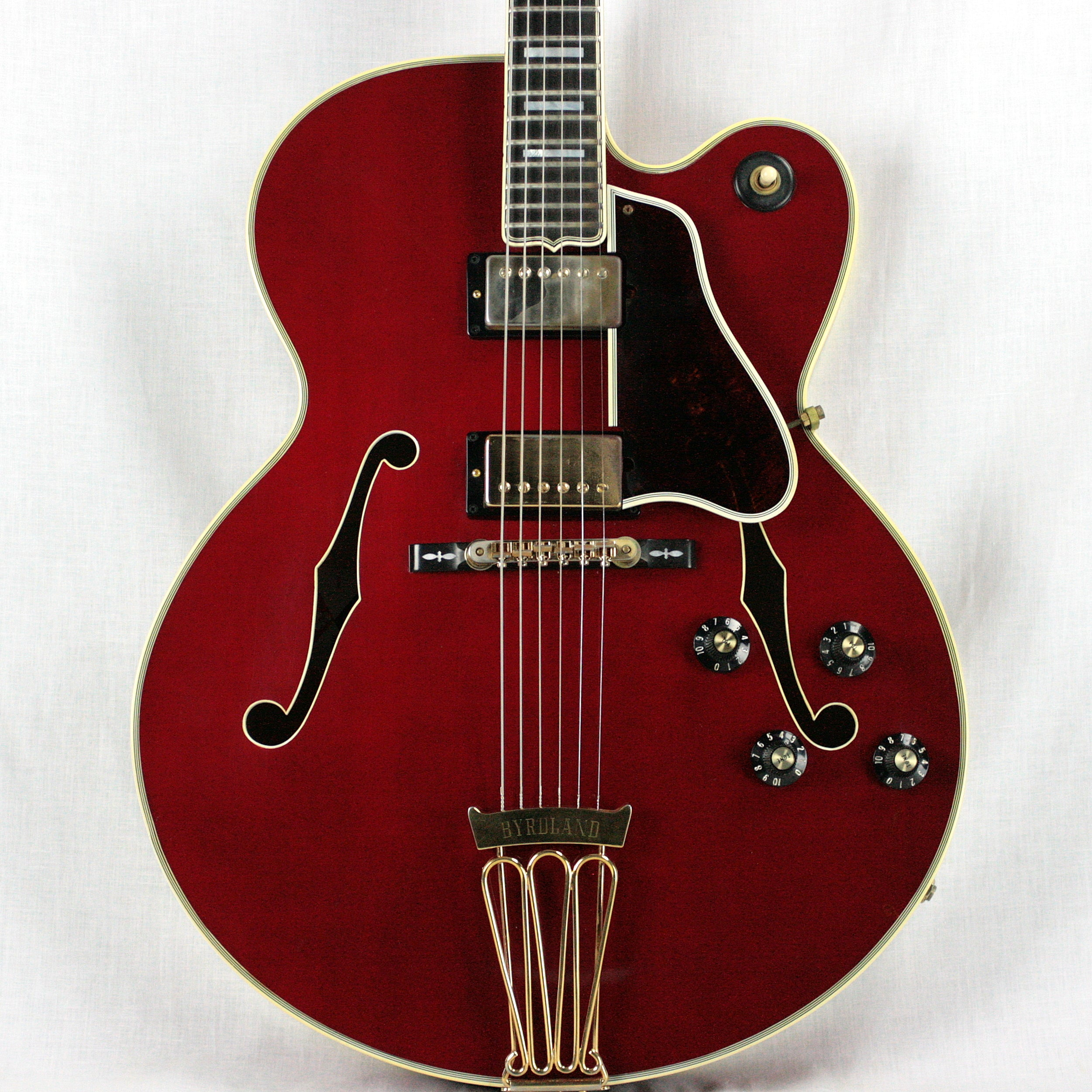 INCREDIBLY RARE 1980 Gibson Byrdland w/ F5 Mandolin Headstock! CHERRY RED! es335 one off