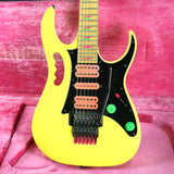 1990 Ibanez JEM 777 DY! Desert Sun Yellow w/ OHSC! JEM777DY Excellent Condition! Rare Model!