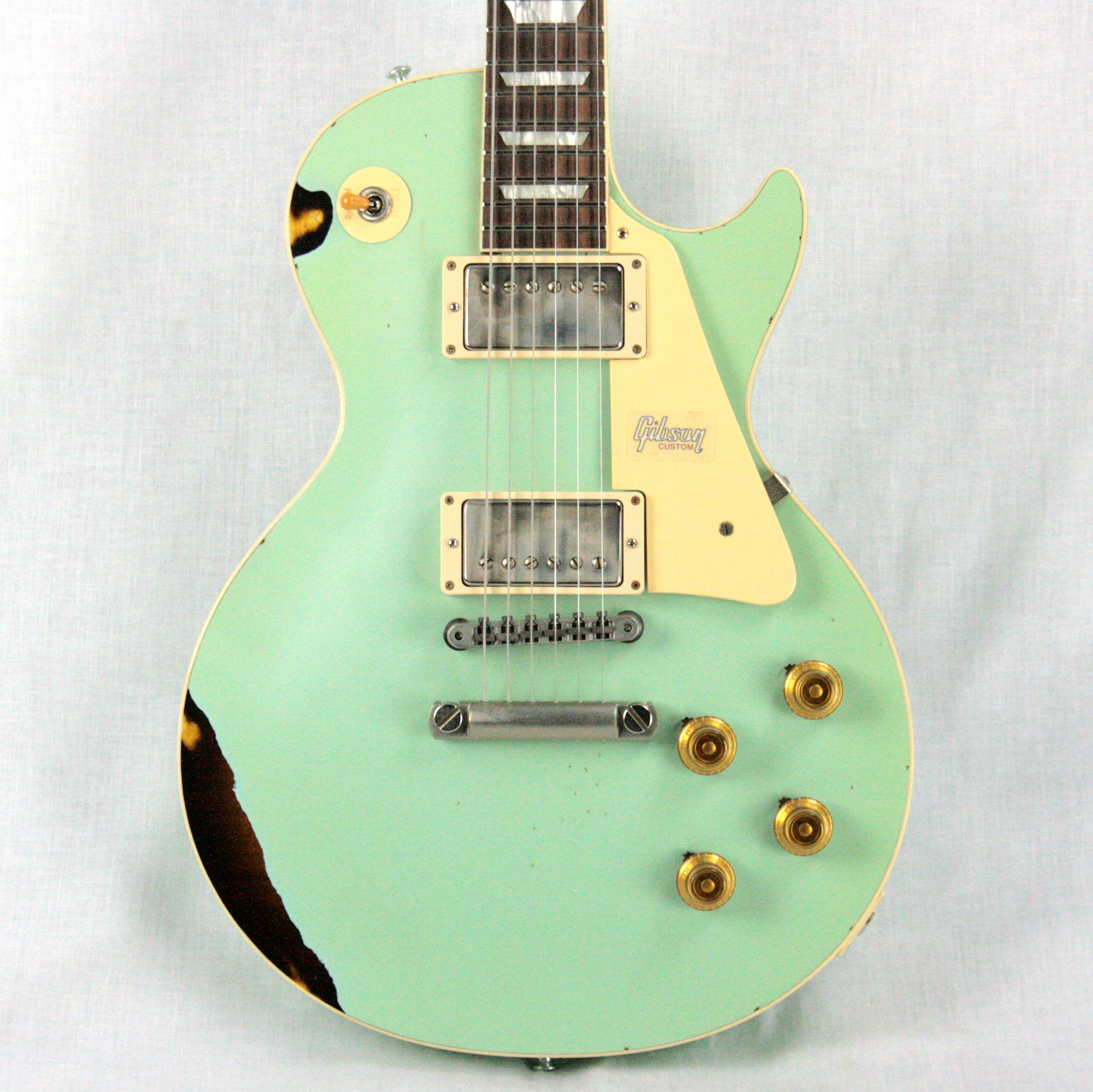 1958 Gibson Custom Shop AGED 58 Les Paul Reissue Kerry Green Over Dark Burst