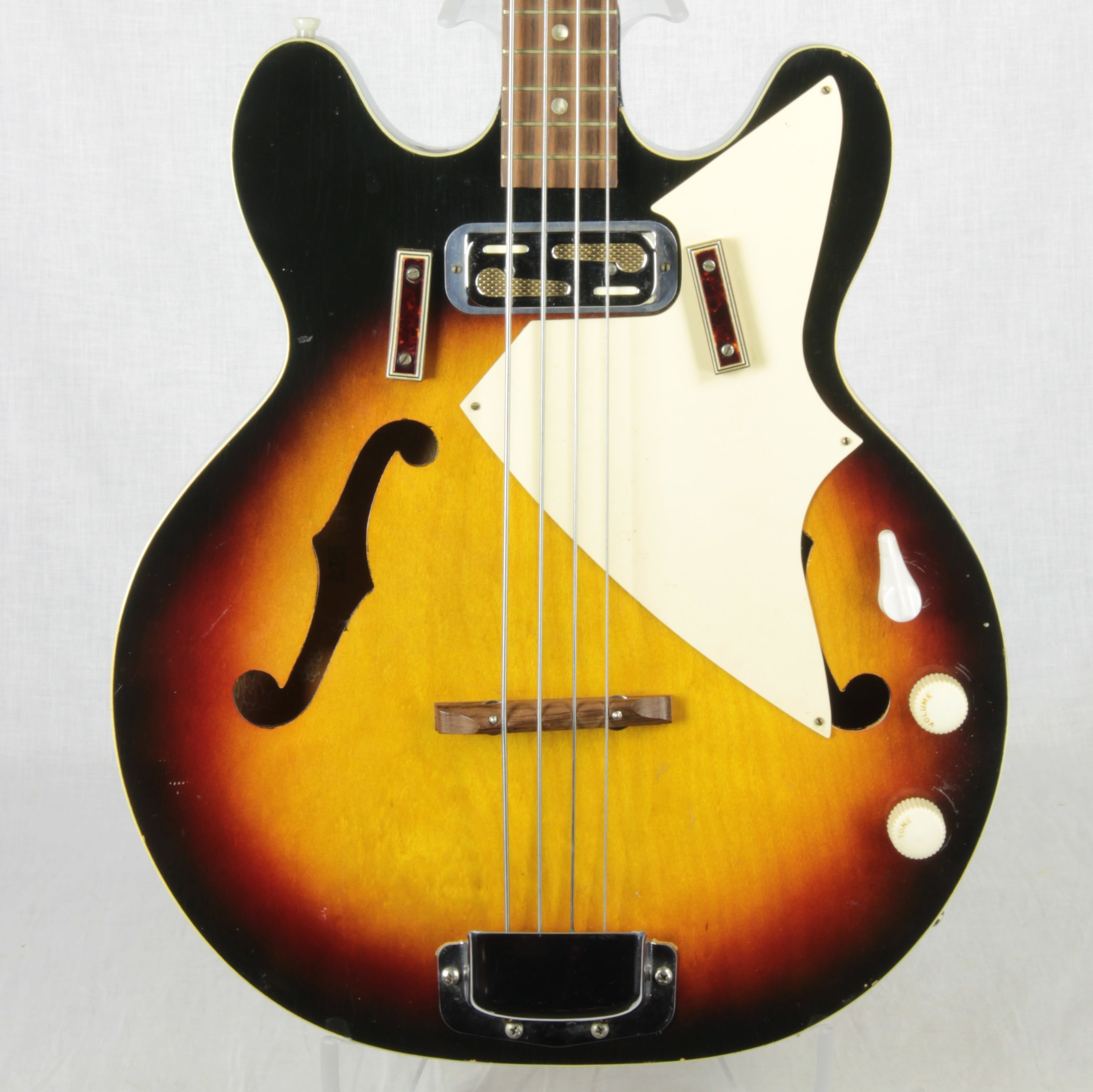 1971 Harmony H22/1 Double Cutaway Electric Bass Sunburst! H-22 1960's 1970's Vintage