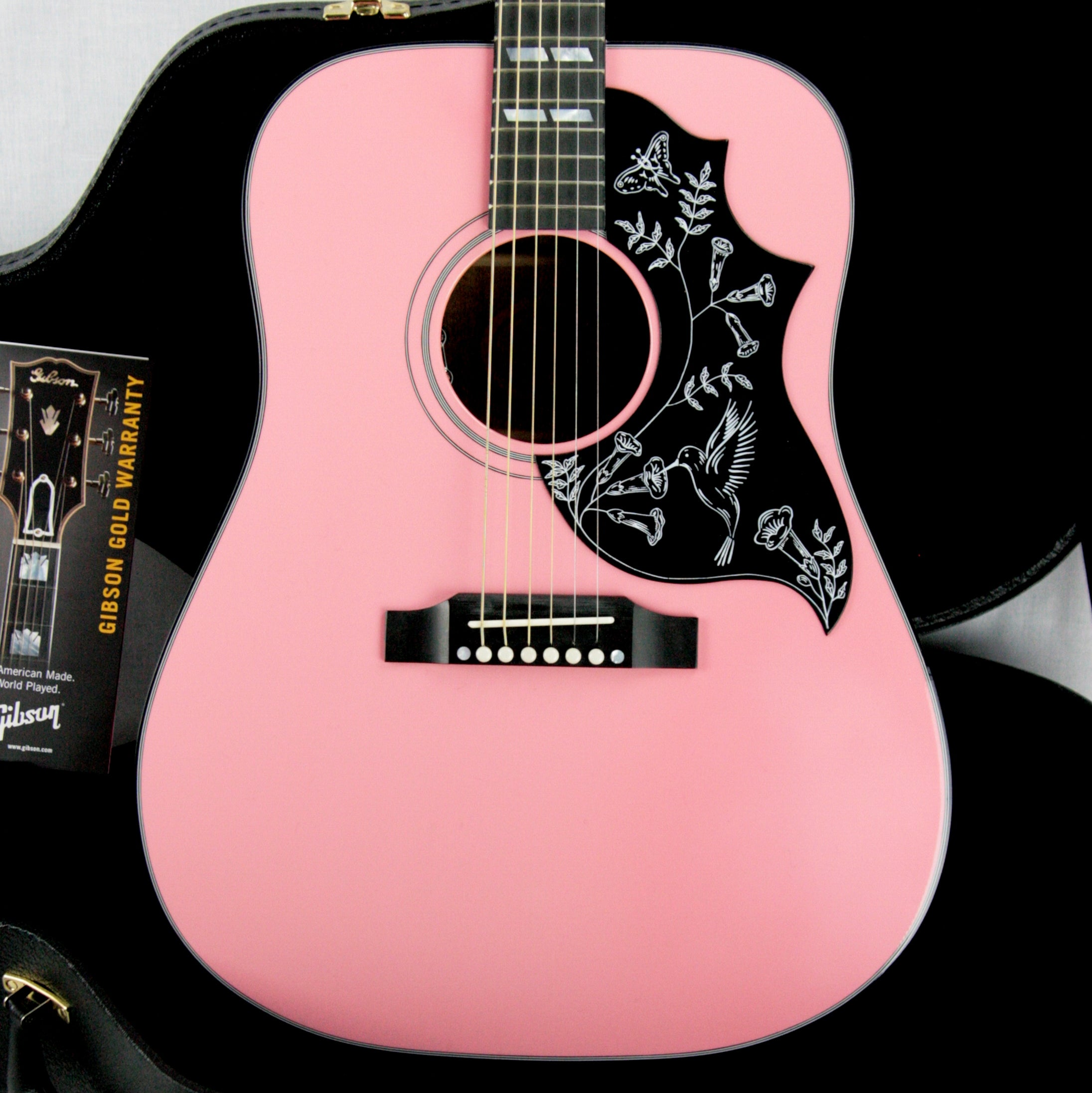 2017 Gibson Montana TECHNO PINK HUMMINGBIRD! Limited Edition Acoustic Guitar! j45 dove
