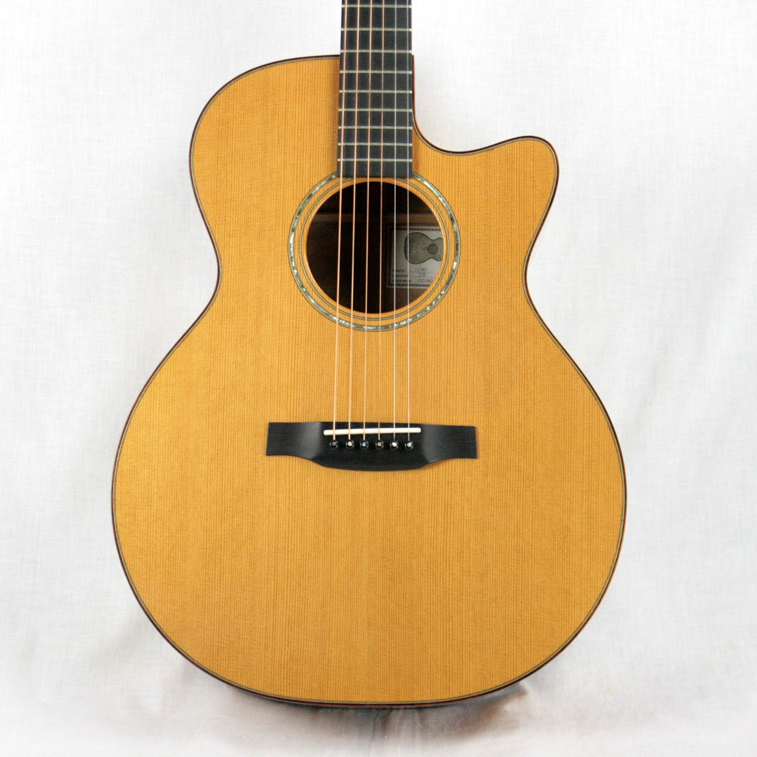 2000 Michael Baranik SJ Steel String Acoustic Guitar CX Cedar Top/Quilted Maple