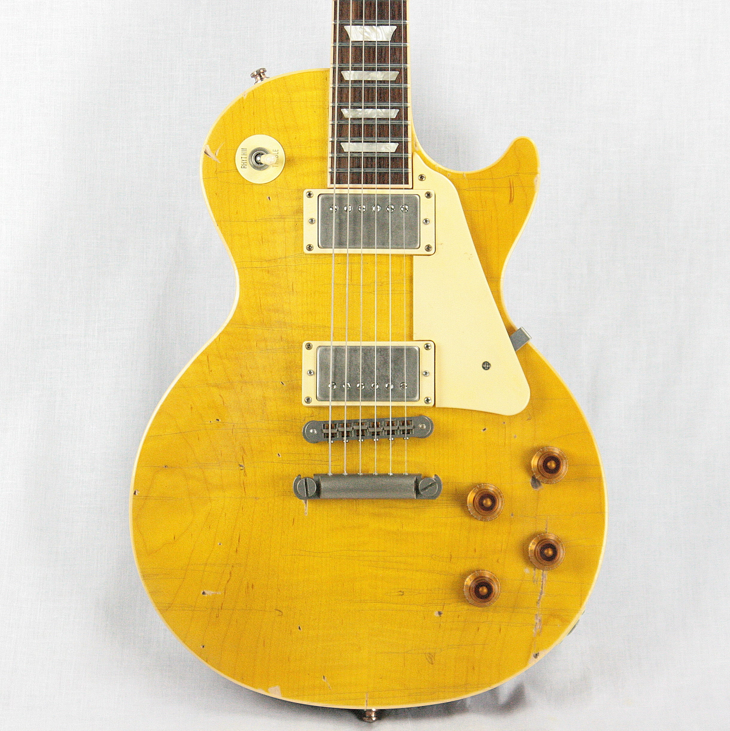 2018 Gibson NASH LP-60 Les Paul Standard Conversion Aged Lemon Burst! Traditional