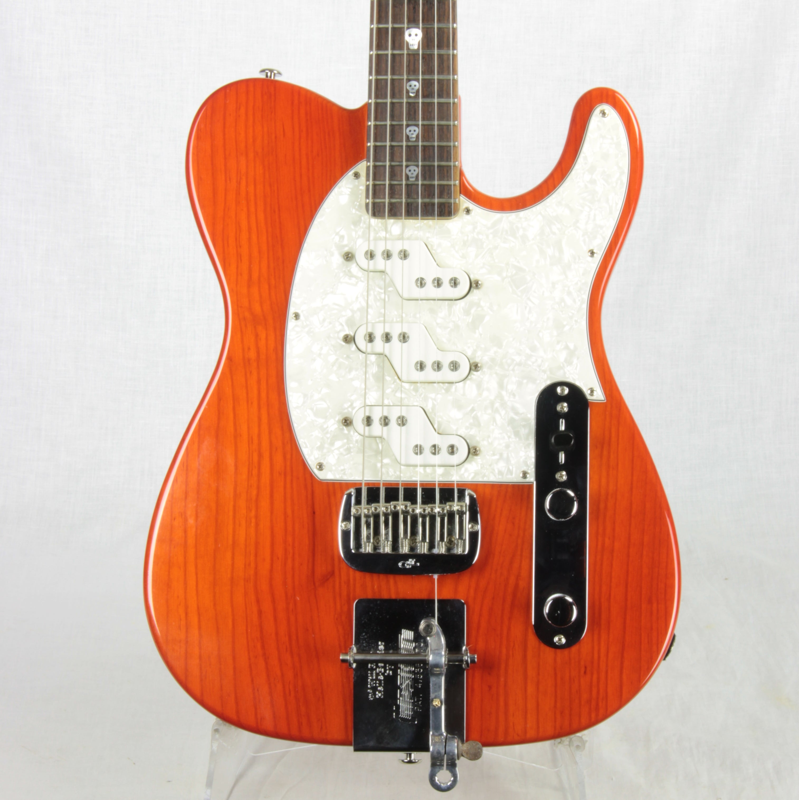 G&L USA Will Ray ASAT Z-3 Signature B-Bender Tele Leo Fender Hellecaster SKULL INLAYS!