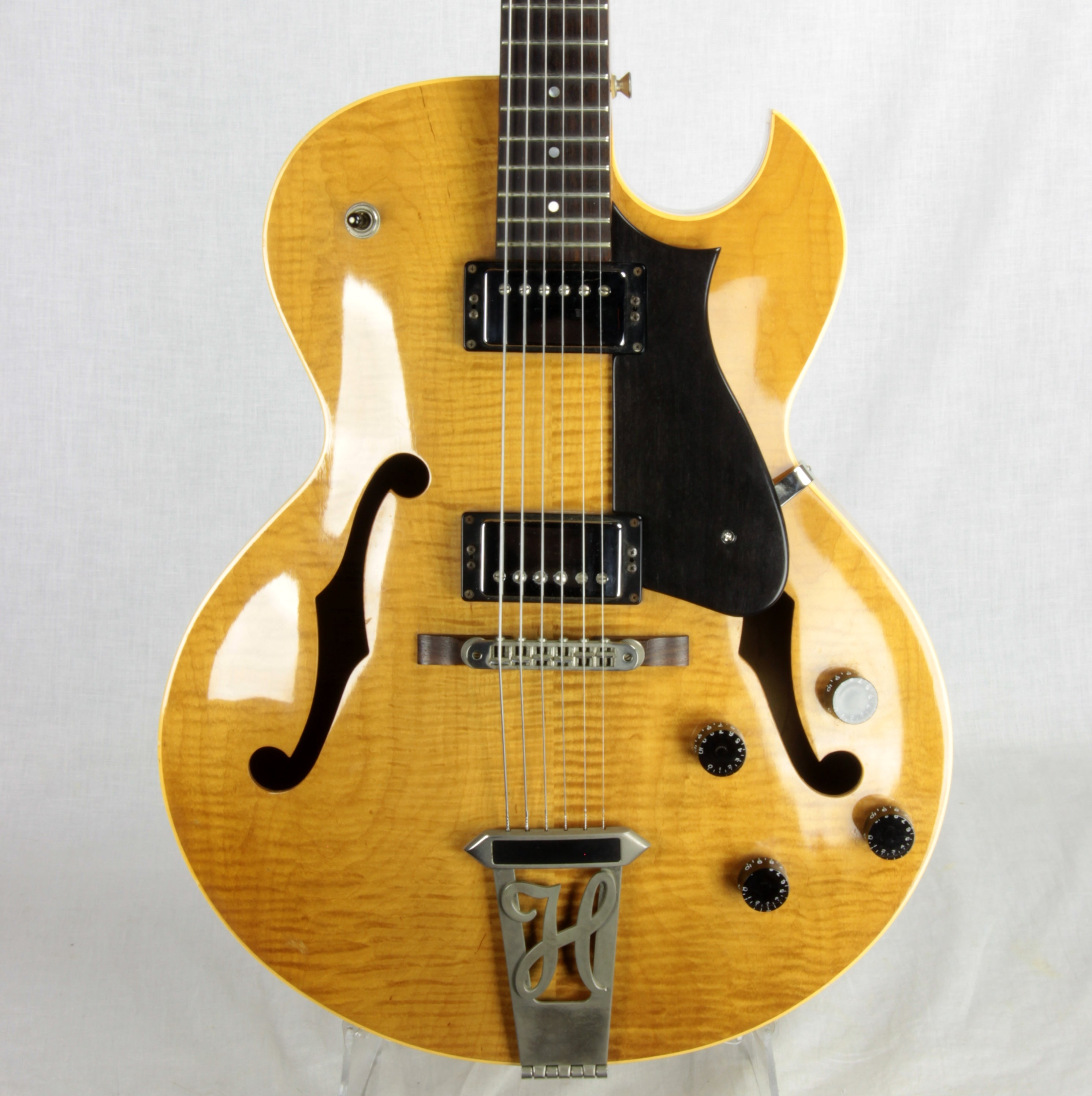 2003 Heritage H575 Natural Blond Archtop Guitar FLAME w/ HRW Pickups! ES-175 H-575