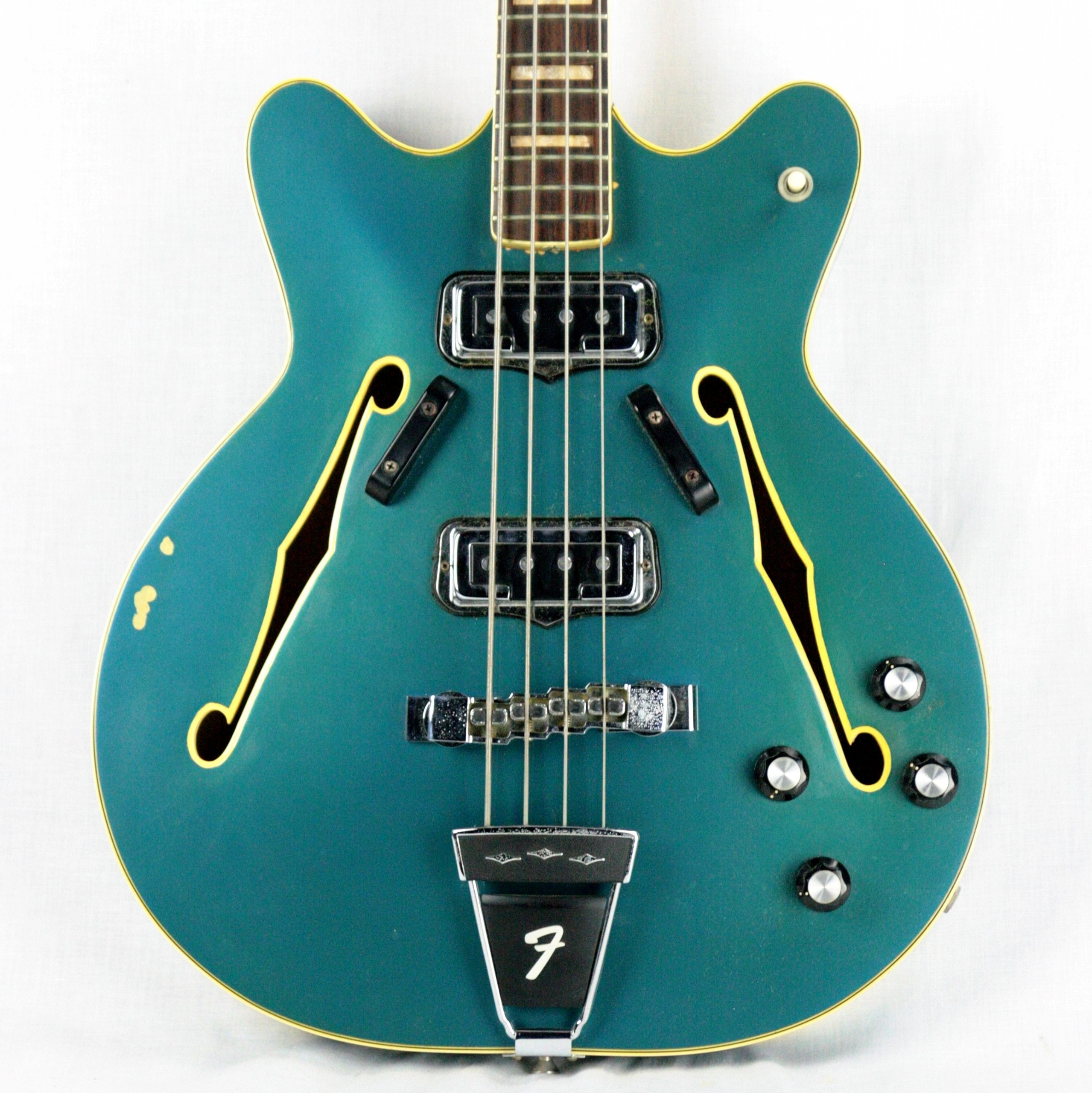 1967 Fender Coronado II Bass LAKE PLACID BLUE! Rare Custom Color jazz p