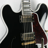 2016 Gibson ES-355 EBONY BLACK Gloss Limited Edition! Gold Bigsby! Memphis 335 345