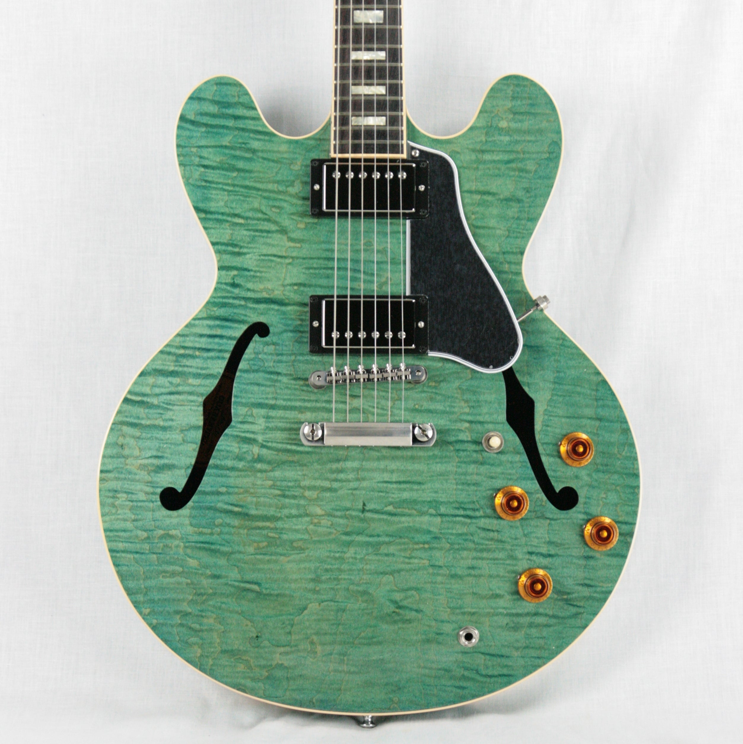 2016 Gibson ES-335 FIGURED Turquoise Limited Edition! Block inlays, Flametop! Memphis
