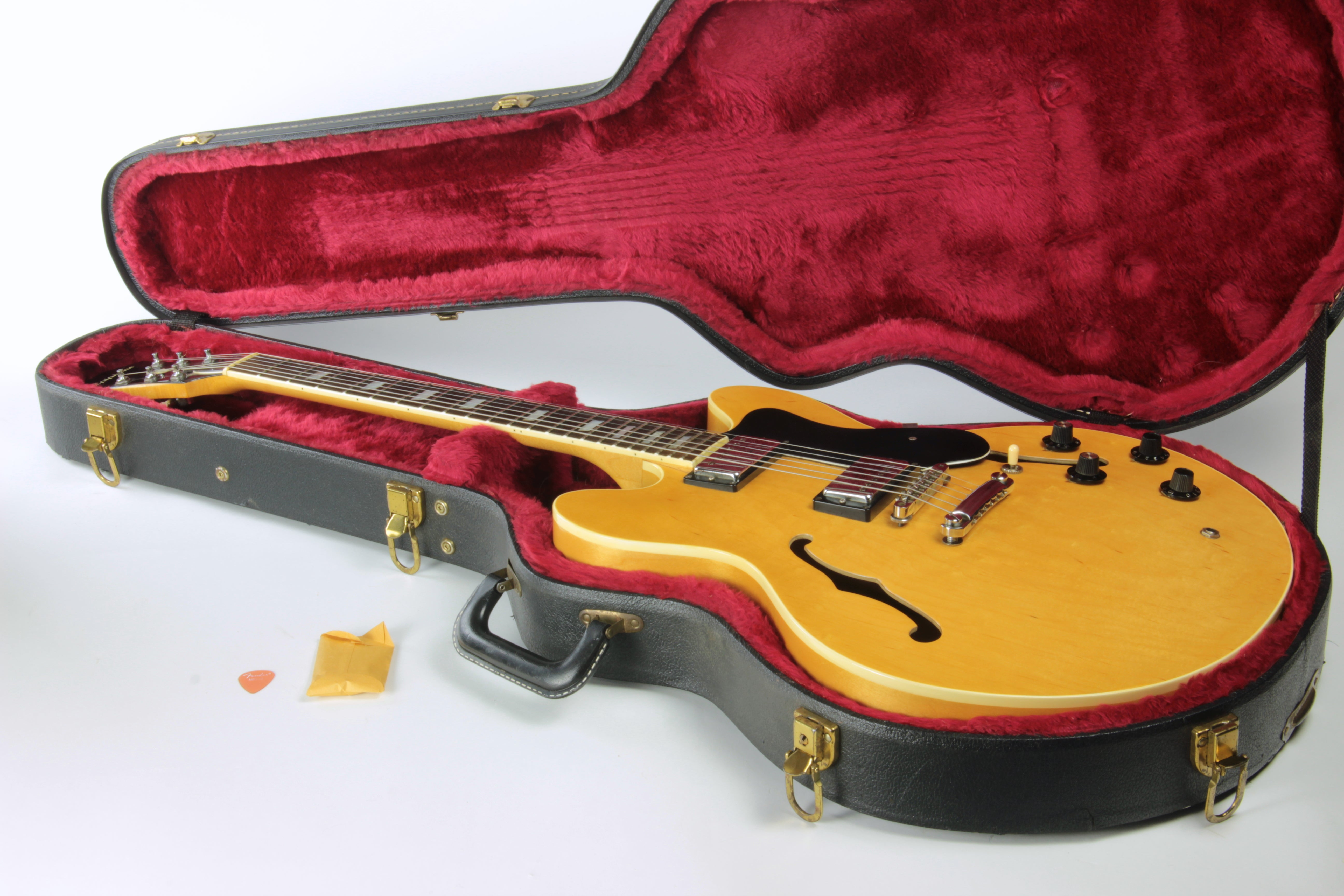 1982 Epiphone MIJ Japan RIVIERA Antique Natural Matsumoku Gibson ES-335 Case Original Oasis