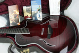 2013 Taylor T5-S1 Standard Red Edgeburst Acoustic Electric Hybrid Thinline