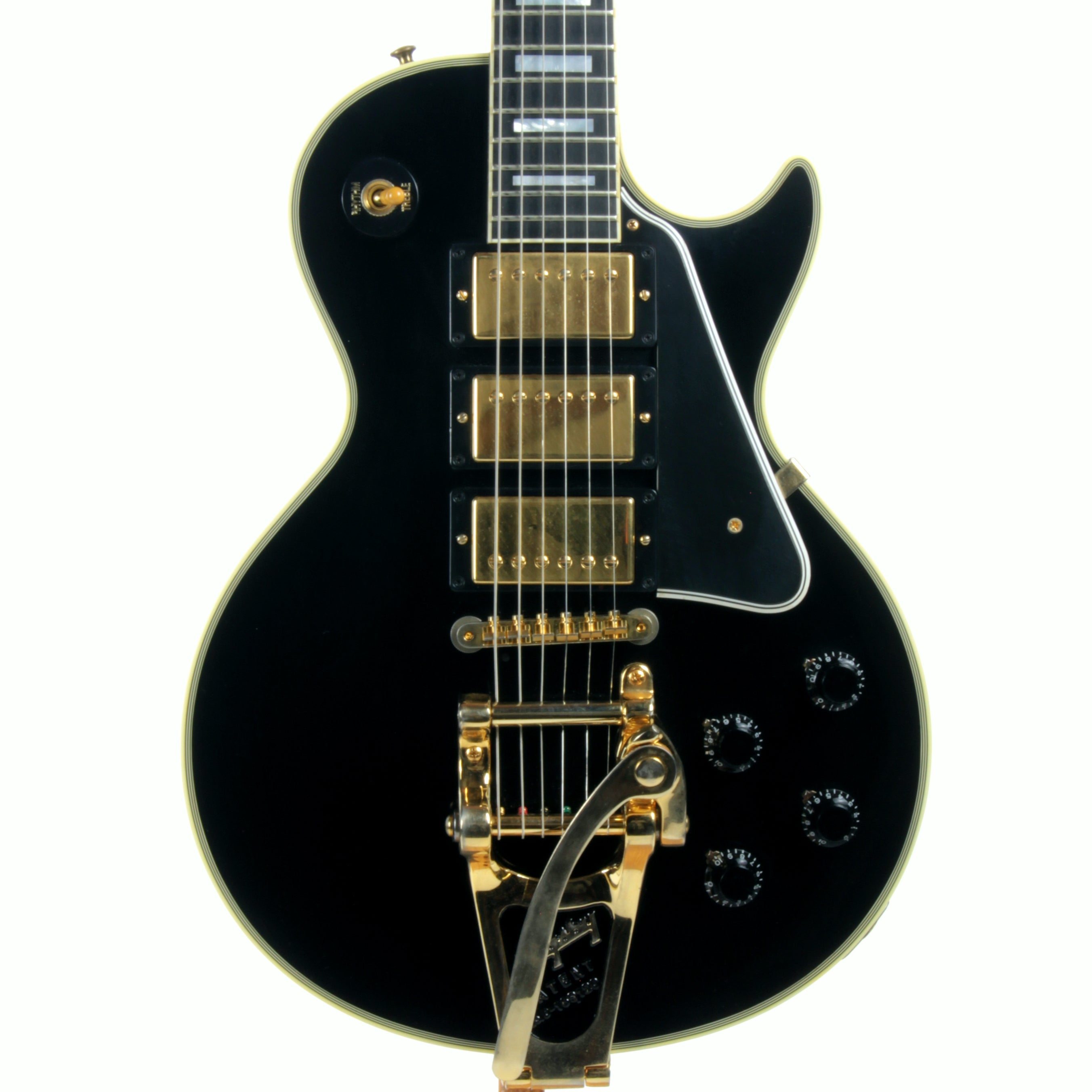 1957 Gibson Les Paul Custom Reissue Bigsby 3 Pickups! LPB-3 Black Beauty Historic 57