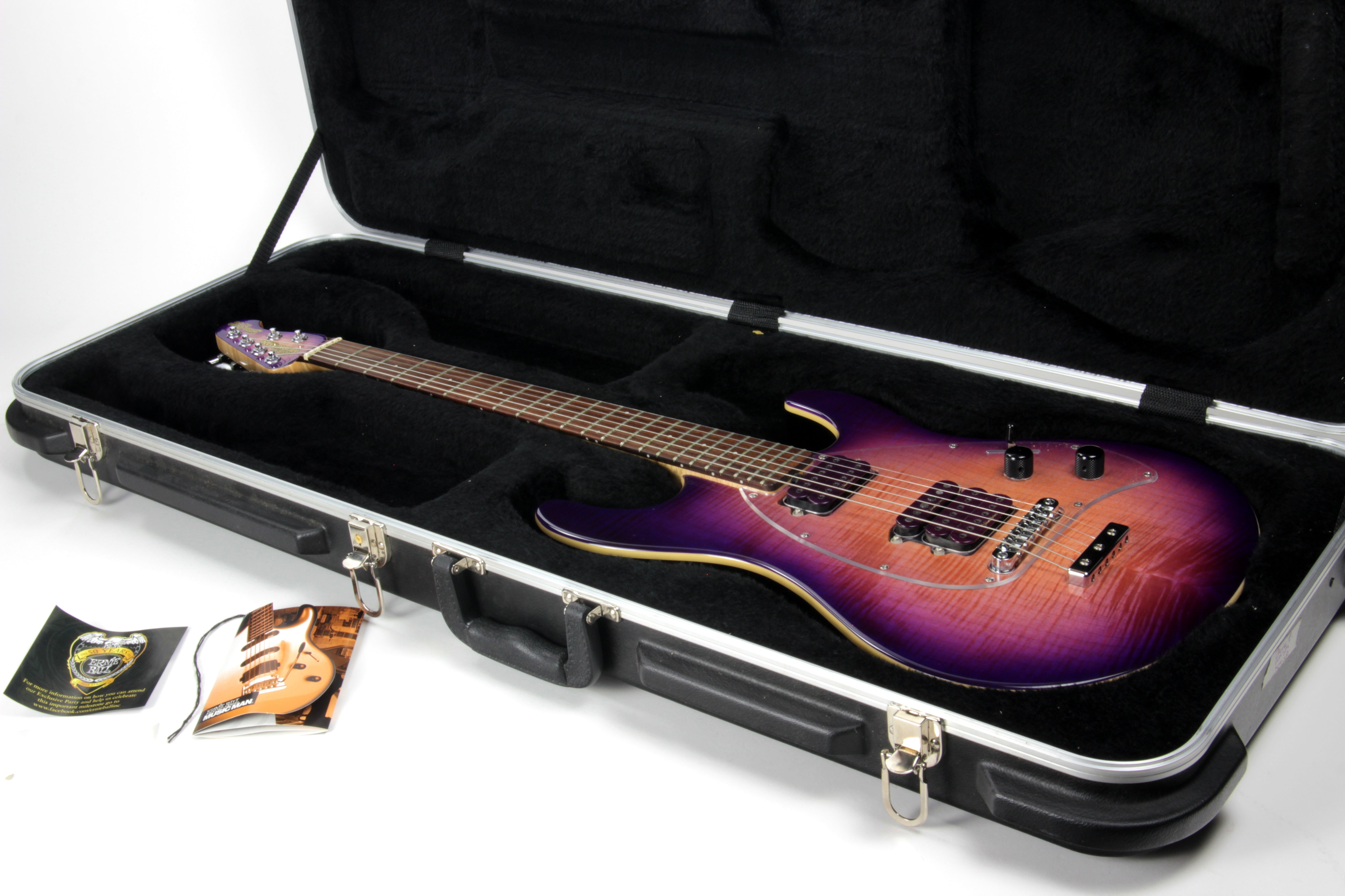 2008 Ernie Ball Music Man SM-Y2D Steve Morse Purple Sunset w/ Matching Headstock! Flametop