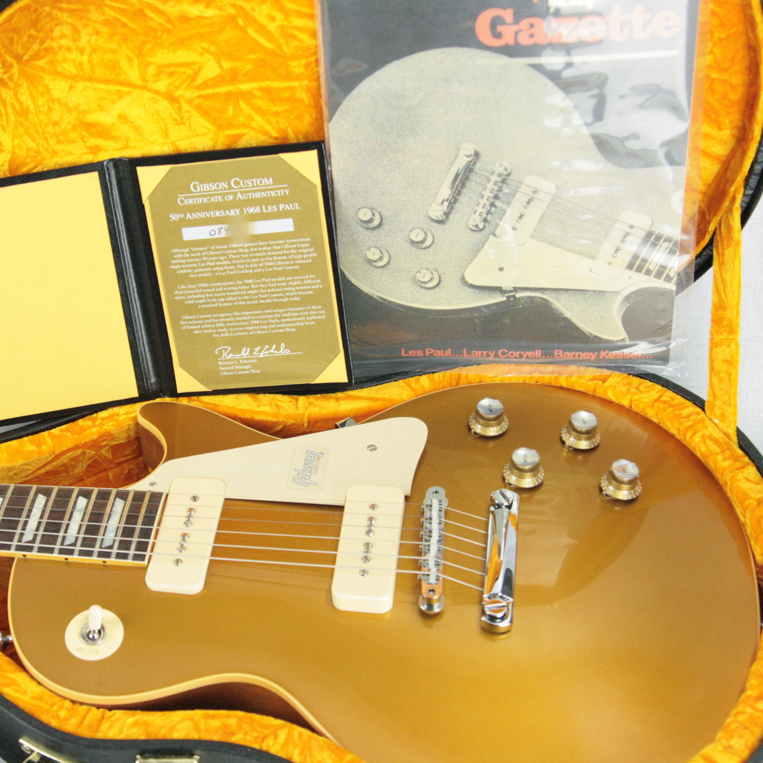 2018 Gibson 1968 Les Paul Goldtop Historic Reissue! 50th Anniversary Limited Edition 68 Made!