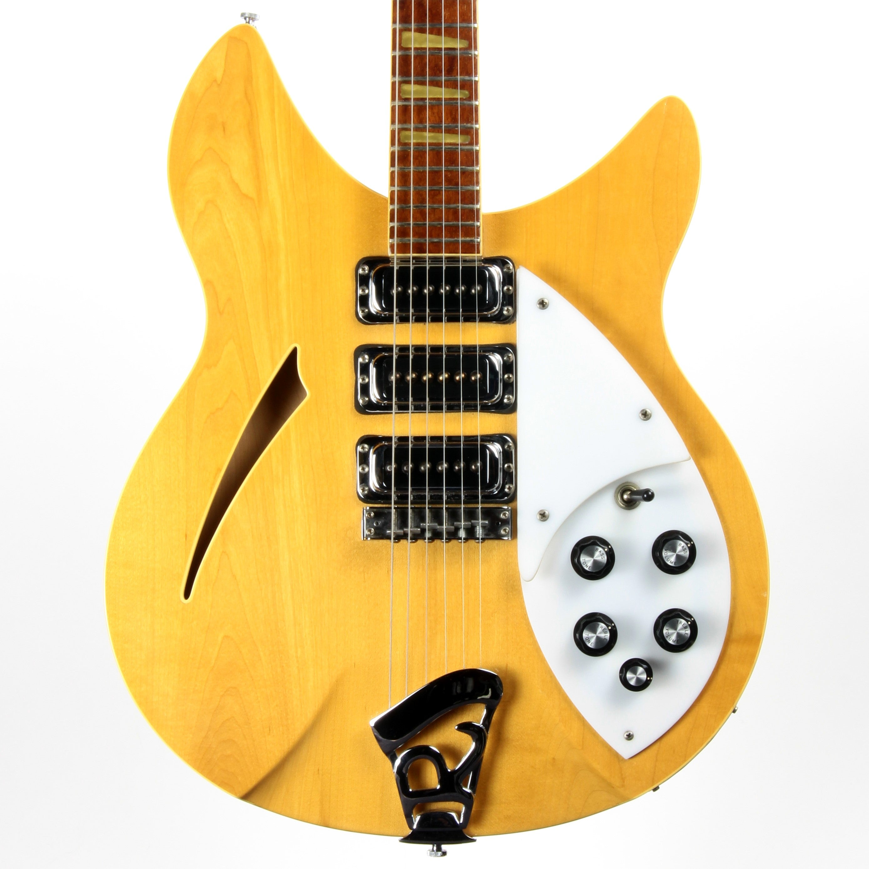 1992 Rickenbacker 370WB Mapleglo - Double-Bound OS Old-Style - 3 Pickups - Original Silver Case!