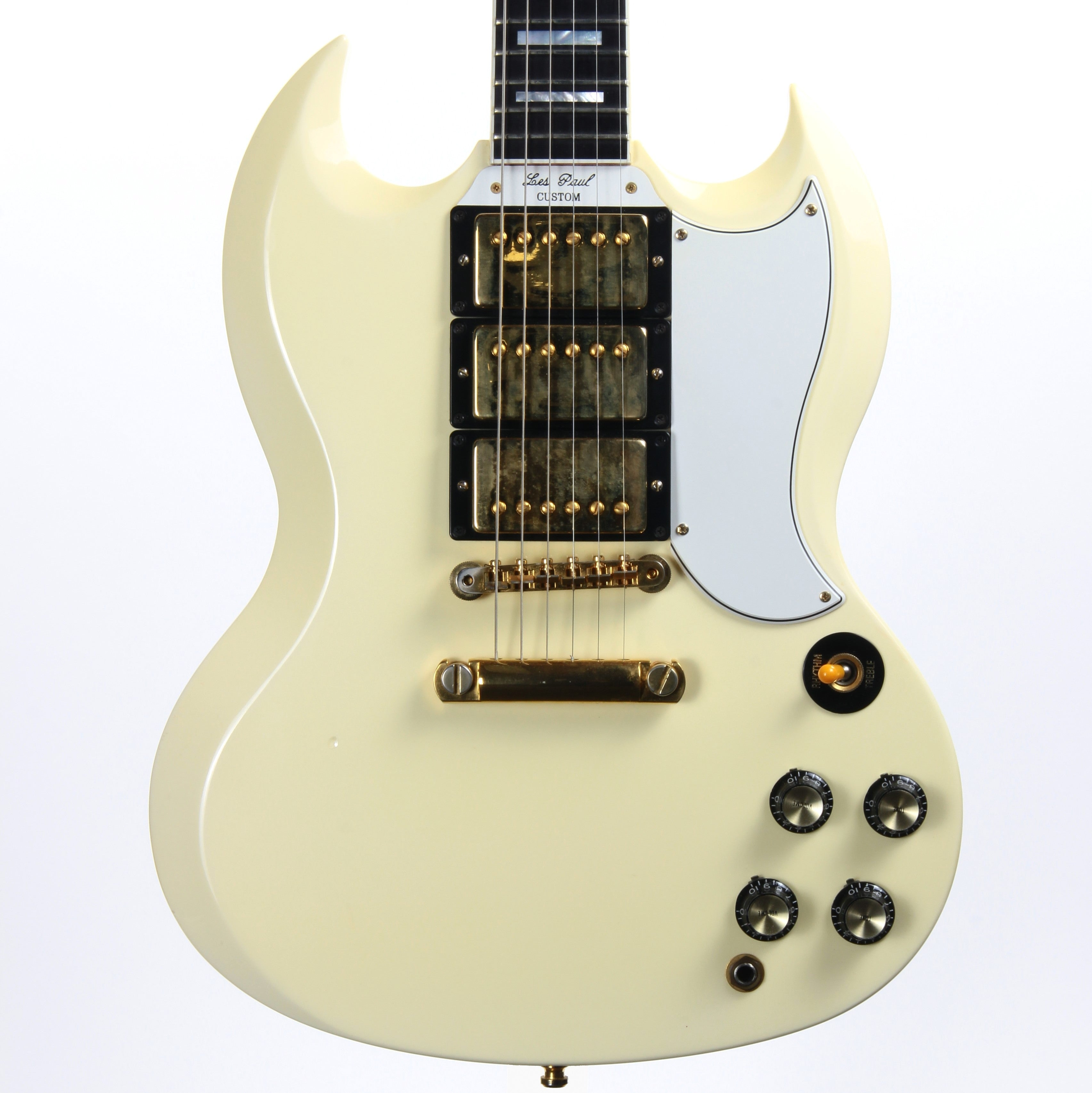 1998 Gibson SG Les Paul Custom Shop Historic - White, 3 Pickups