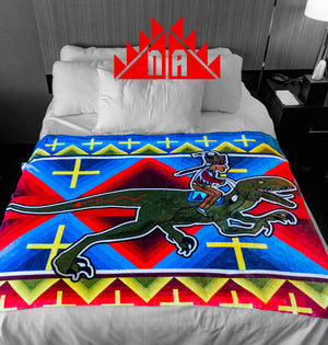 Legend of the Living Room 3-Ride with Raptors blanket